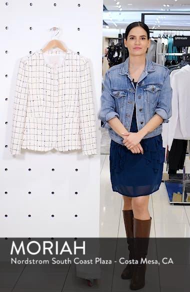 Plaid Tweed Zip Jacket, sales video thumbnail