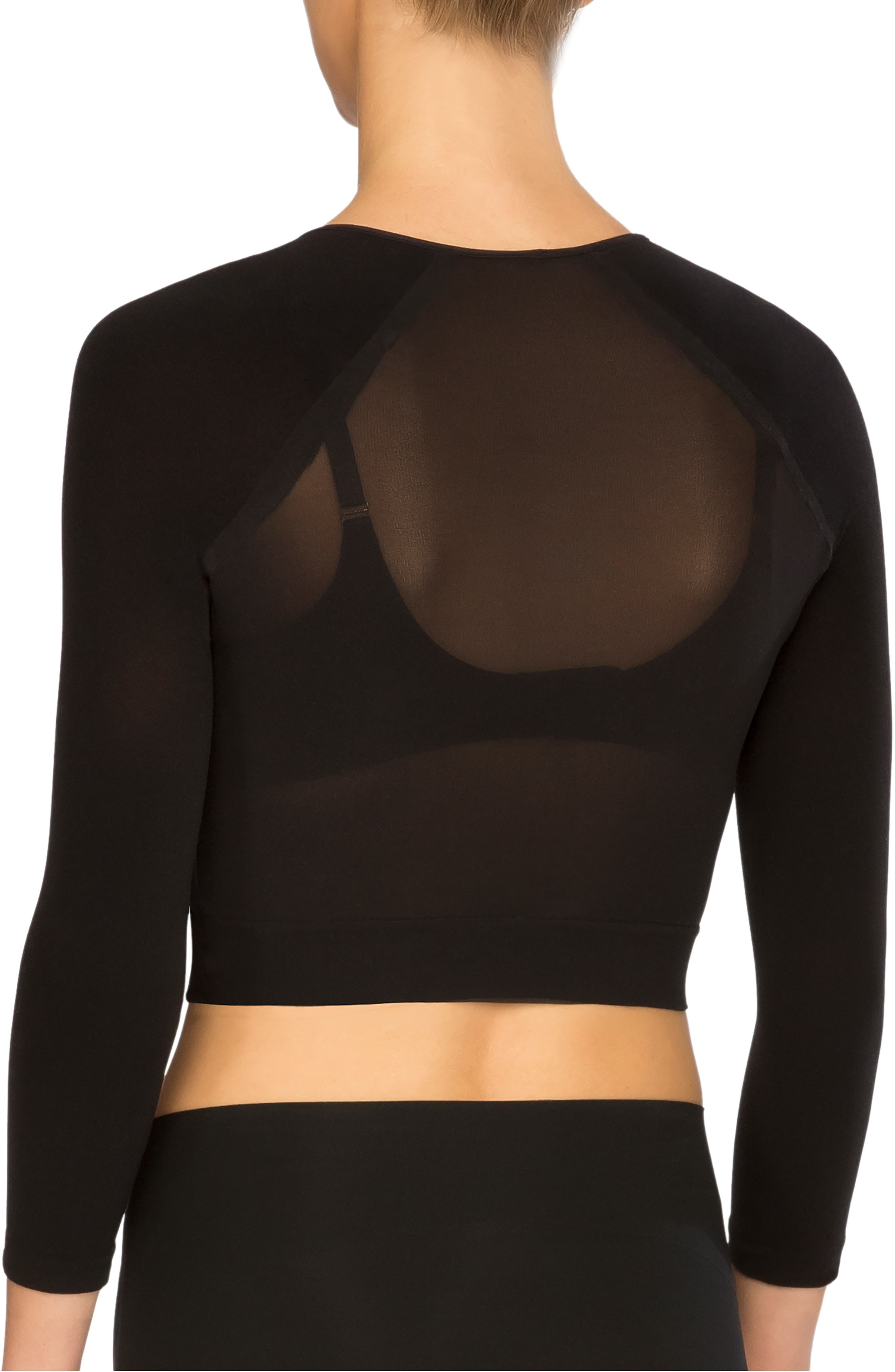 SPANX<SUP>®</SUP>, Arm Tights<sup>®</sup> Layering Piece, Alternate thumbnail 2, color, VERY BLACK