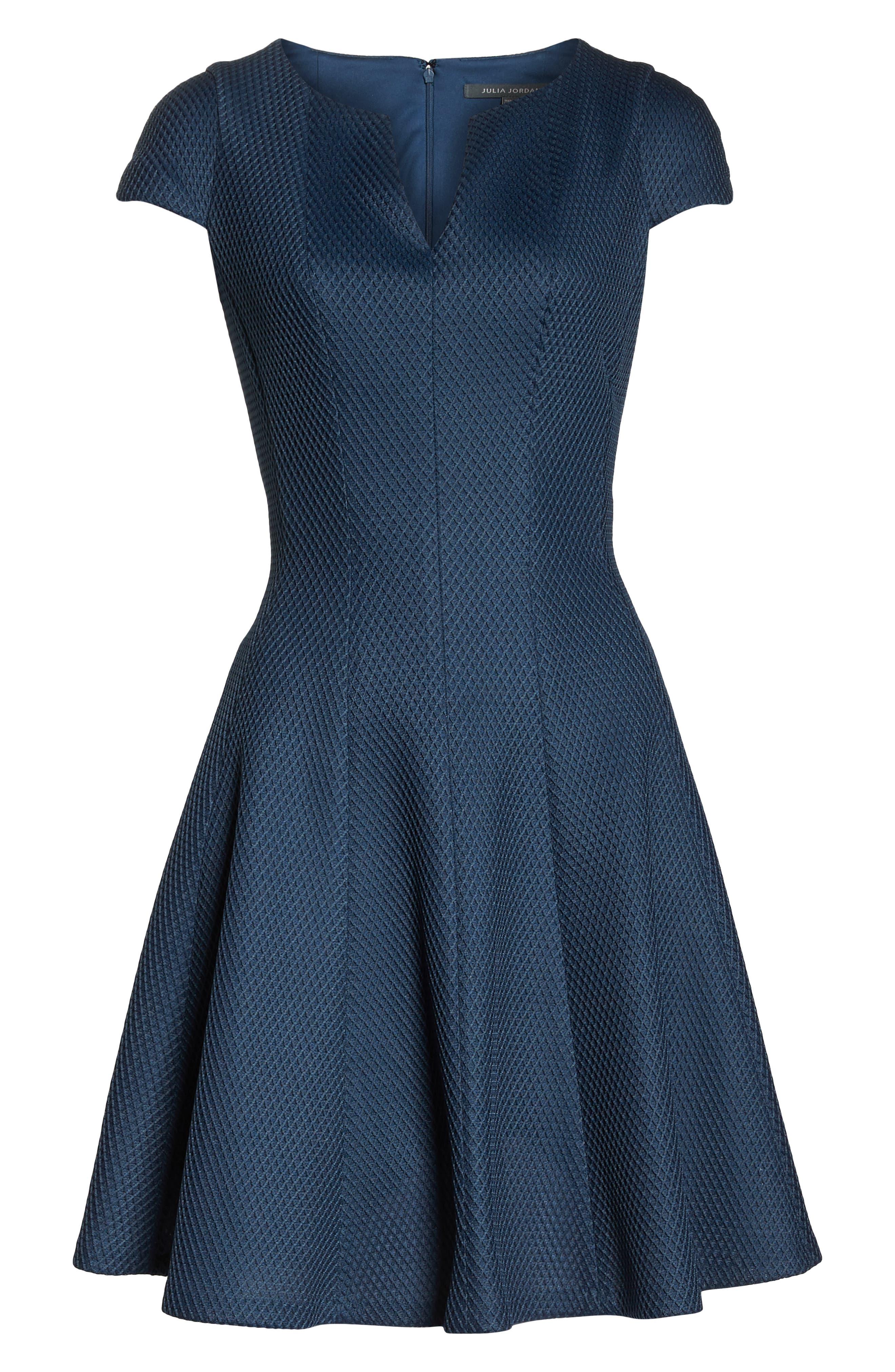 JULIA JORDAN, Fit & Flare Dress, Alternate thumbnail 7, color, 445