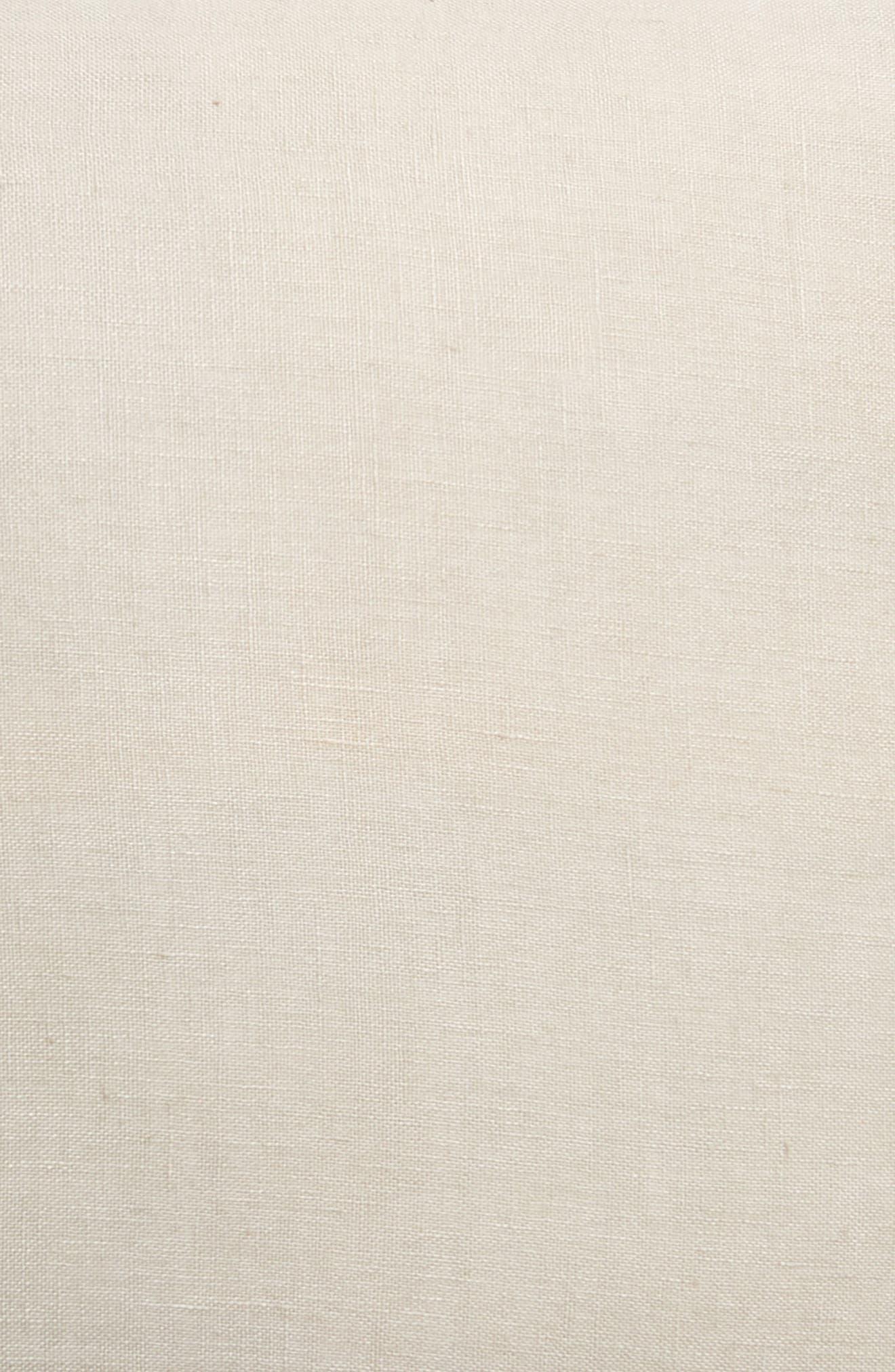 TREASURE & BOND, Linen Accent Pillow, Alternate thumbnail 3, color, GREY OWL