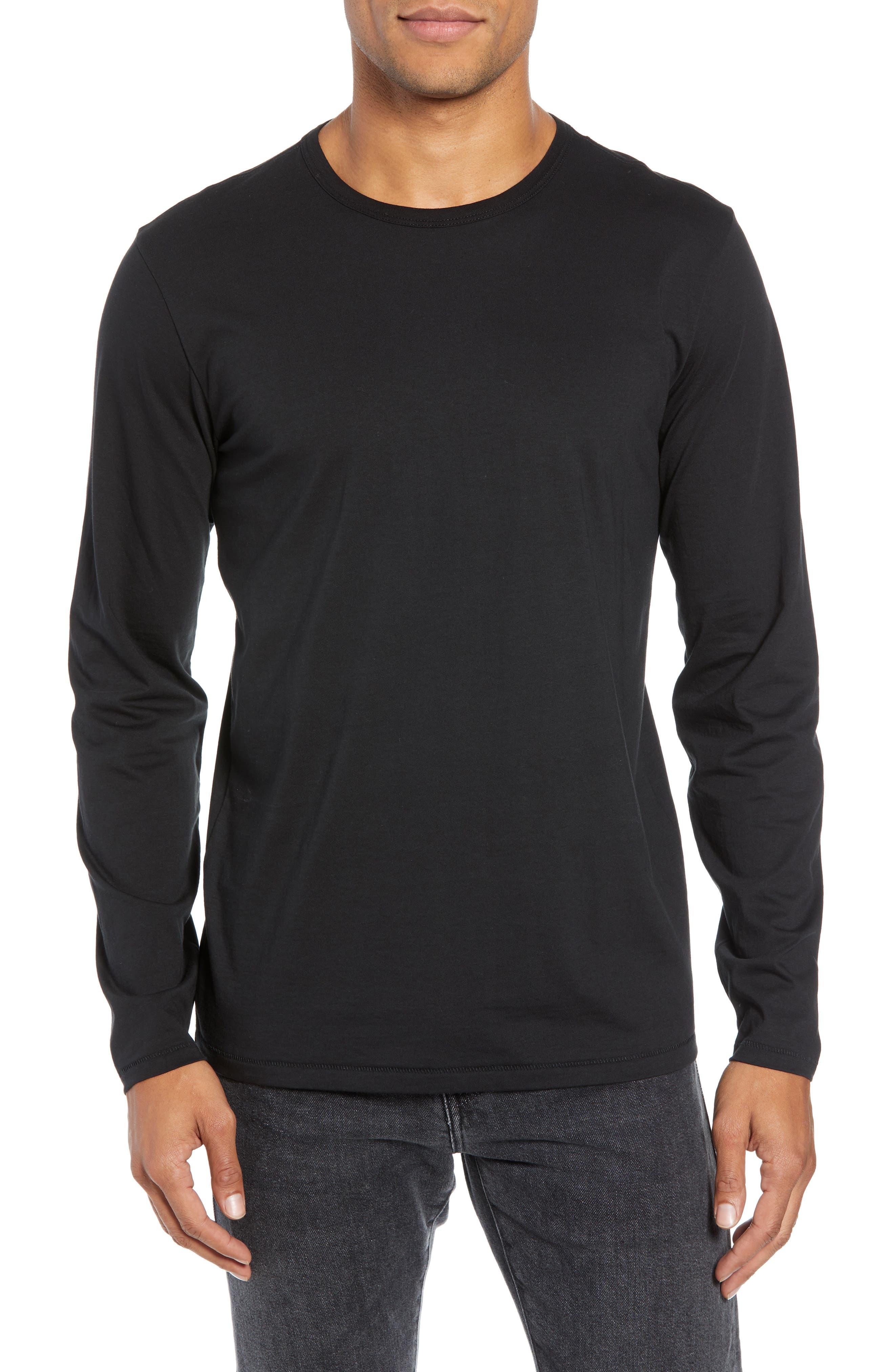 RAG & BONE, Classic Base T-Shirt, Main thumbnail 1, color, BLACK