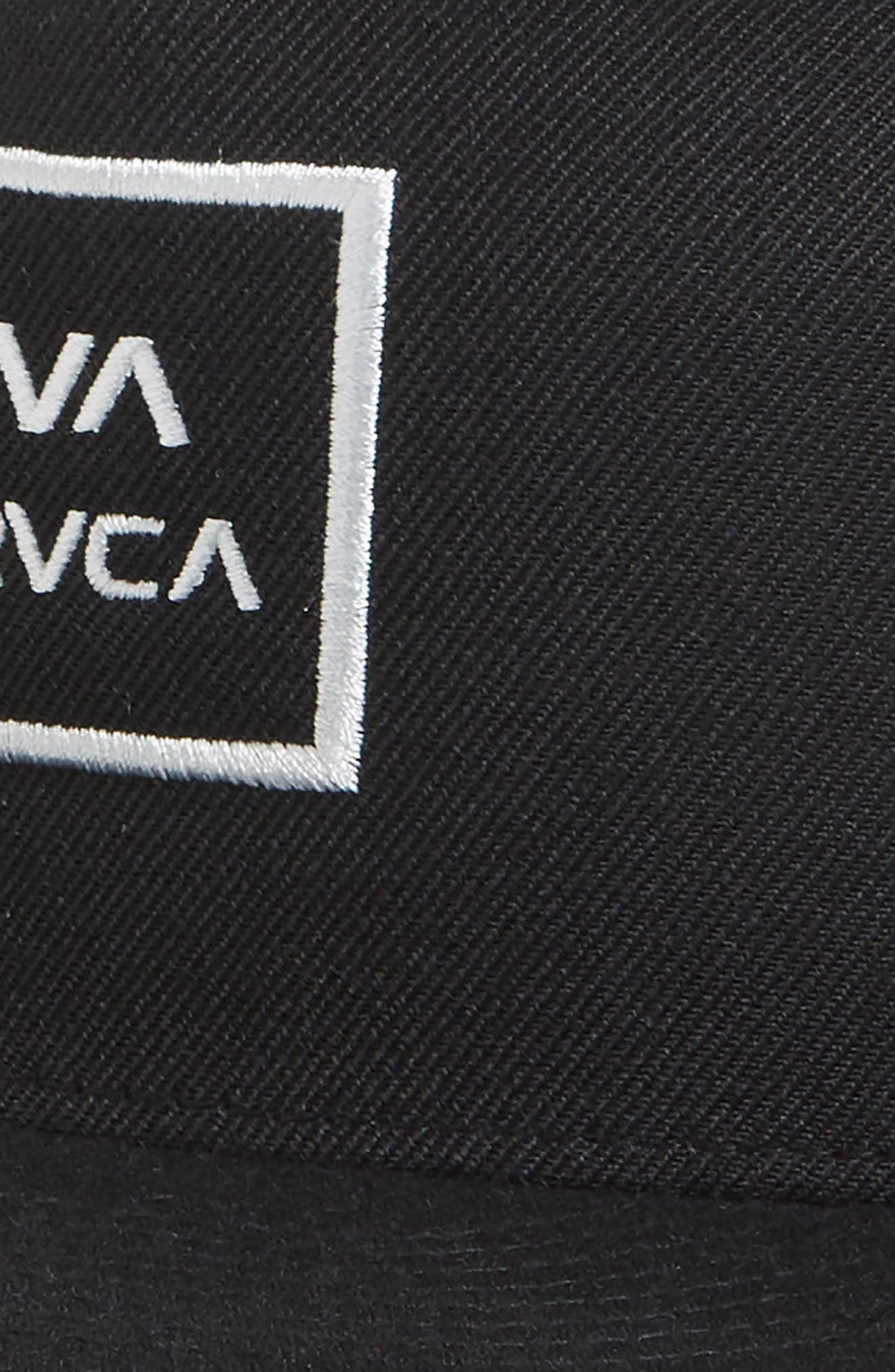 RVCA, VA All the Way Trucker Hat, Alternate thumbnail 3, color, BLACK