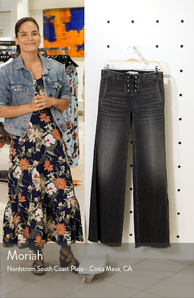 Wade Lace-Up Wide Leg Jeans, sales video thumbnail