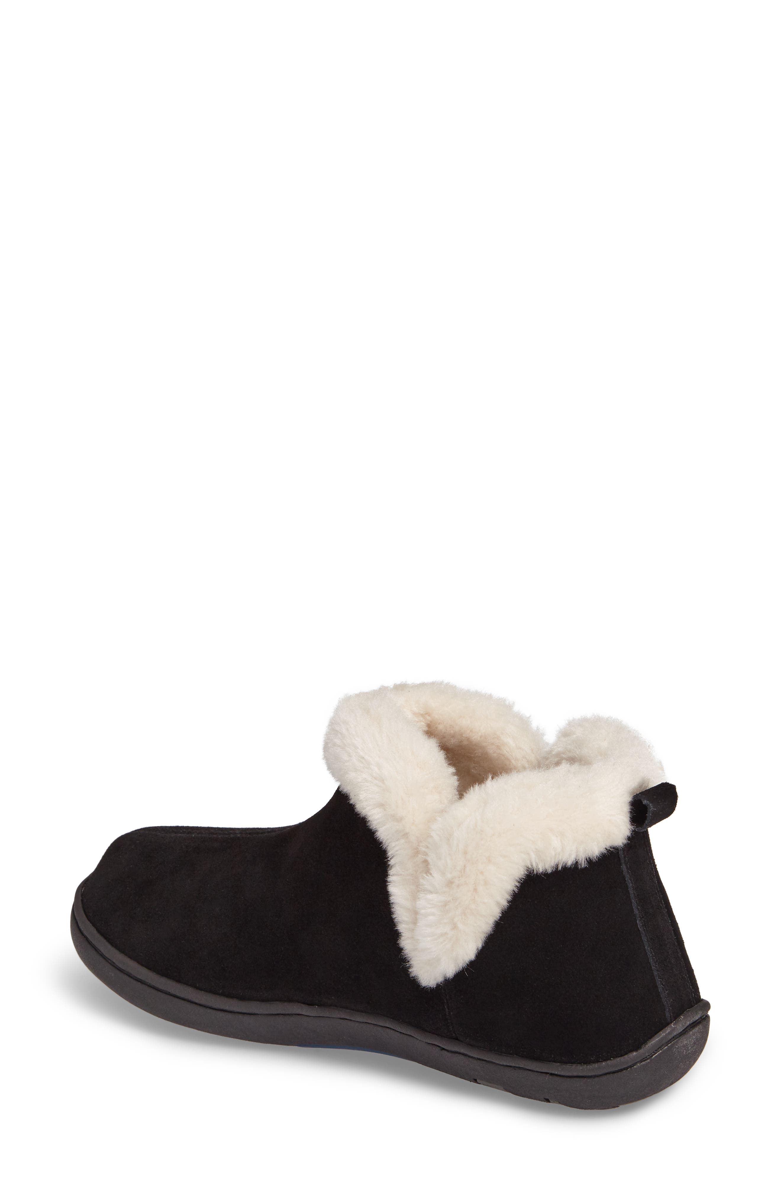 TEMPUR-PEDIC<SUP>®</SUP>, Vallery Bootie Slipper, Alternate thumbnail 2, color, BLACK SUEDE