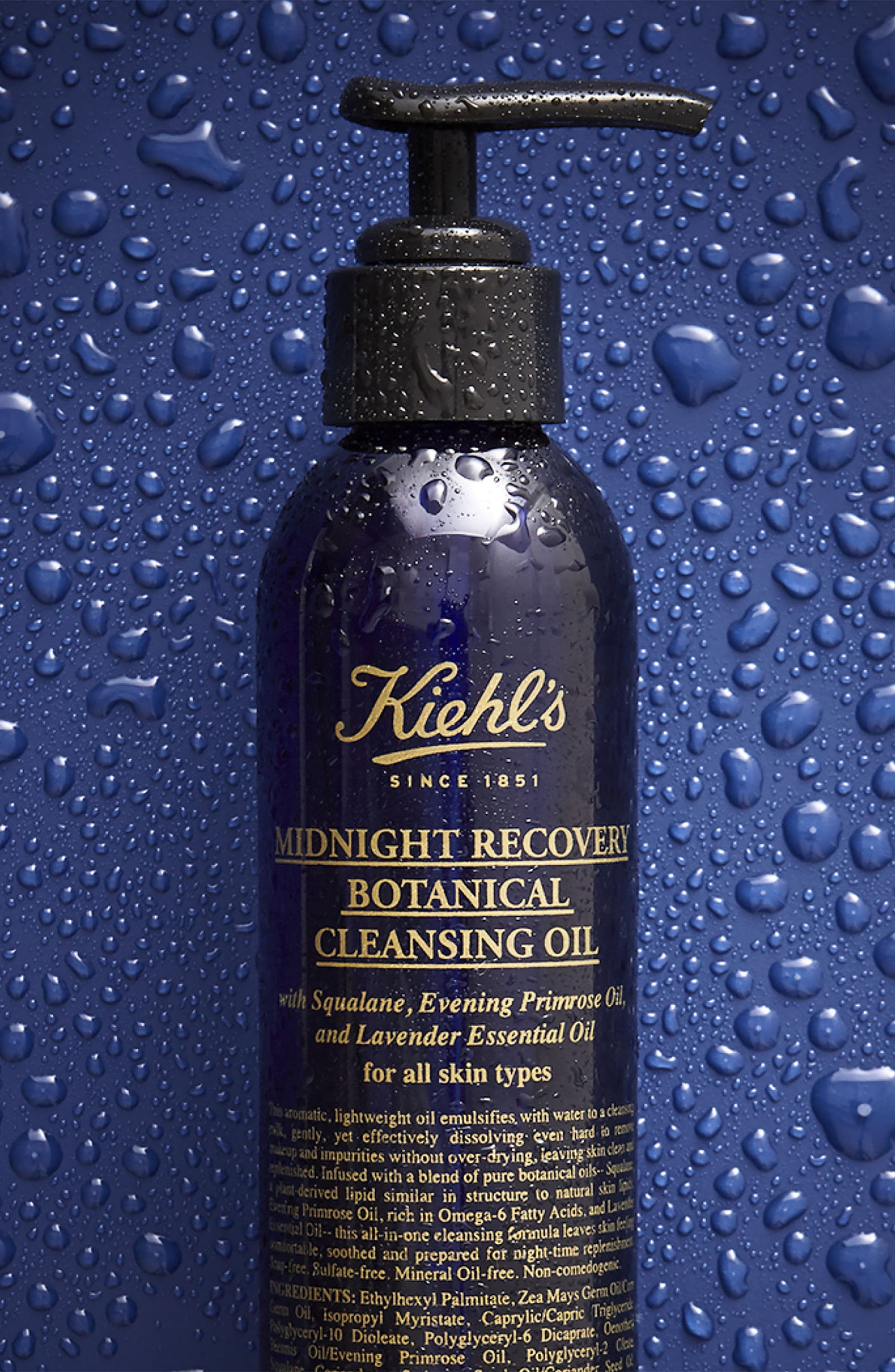 KIEHL'S SINCE 1851, Midnight Recovery Botanical Cleansing Oil, Alternate thumbnail 3, color, NO COLOR