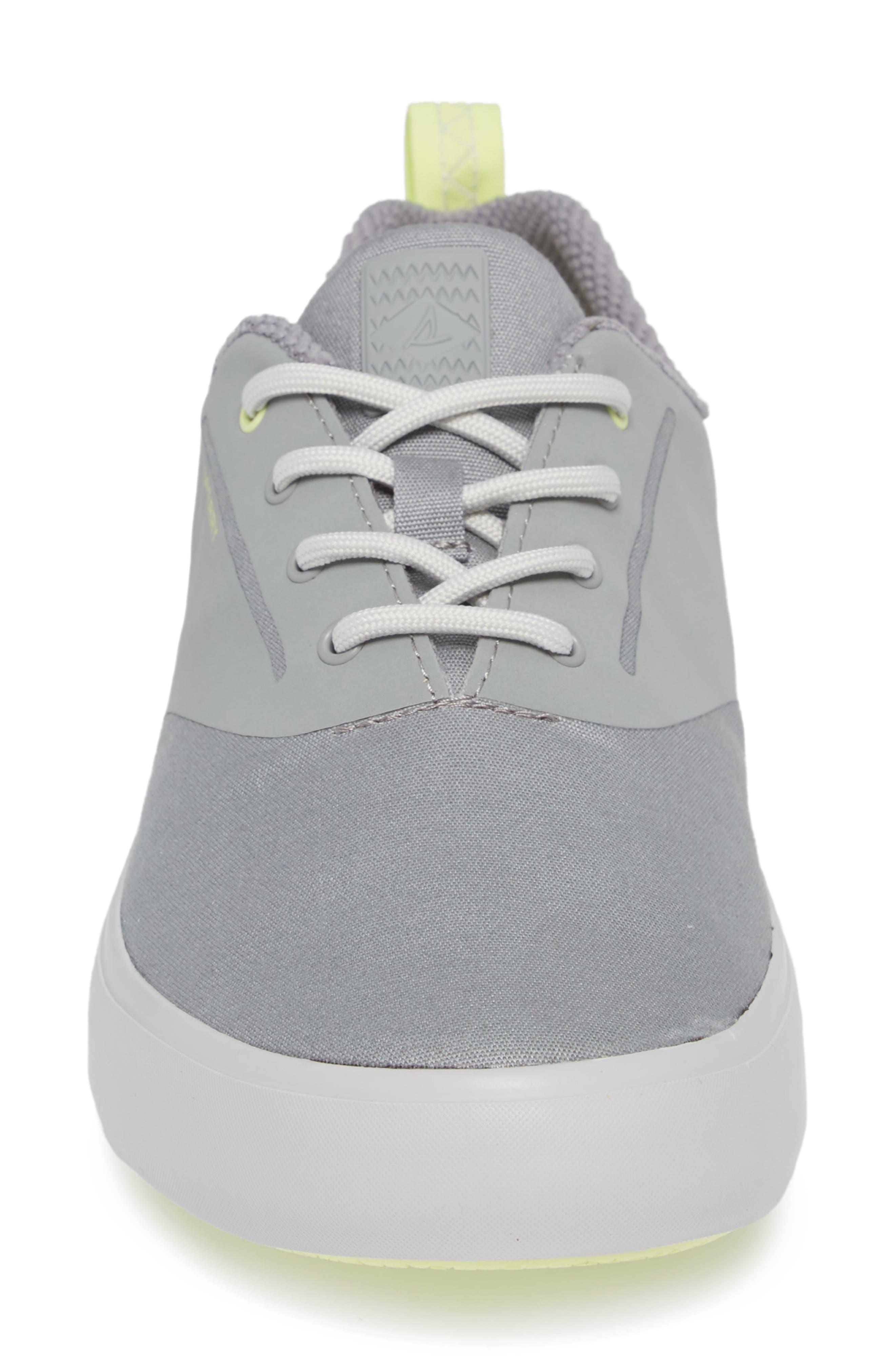 SPERRY, Flex Deck CVO Sneaker, Alternate thumbnail 4, color, GREY