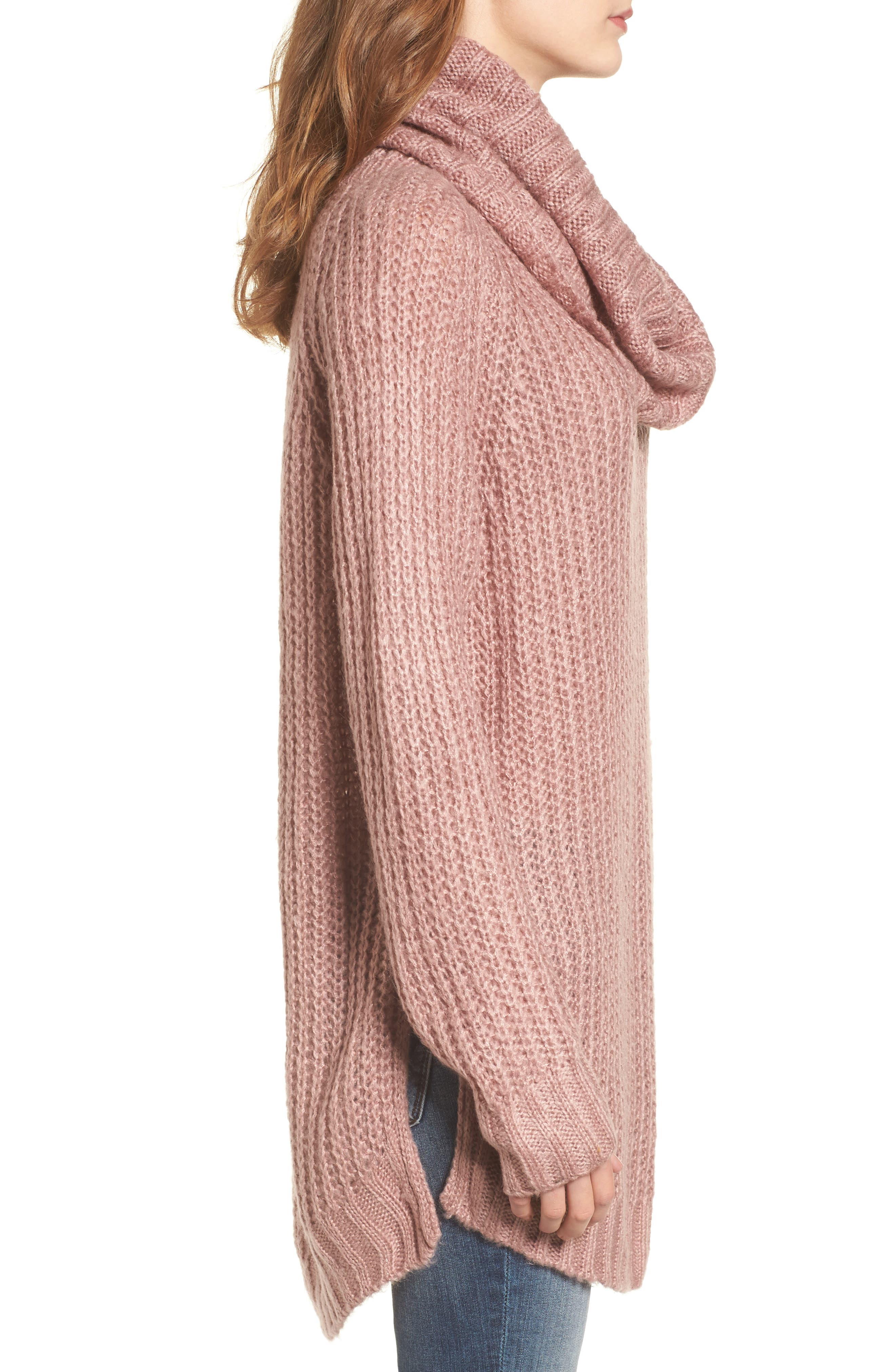DREAMERS BY DEBUT, Cowl Neck Sweater, Alternate thumbnail 3, color, 680