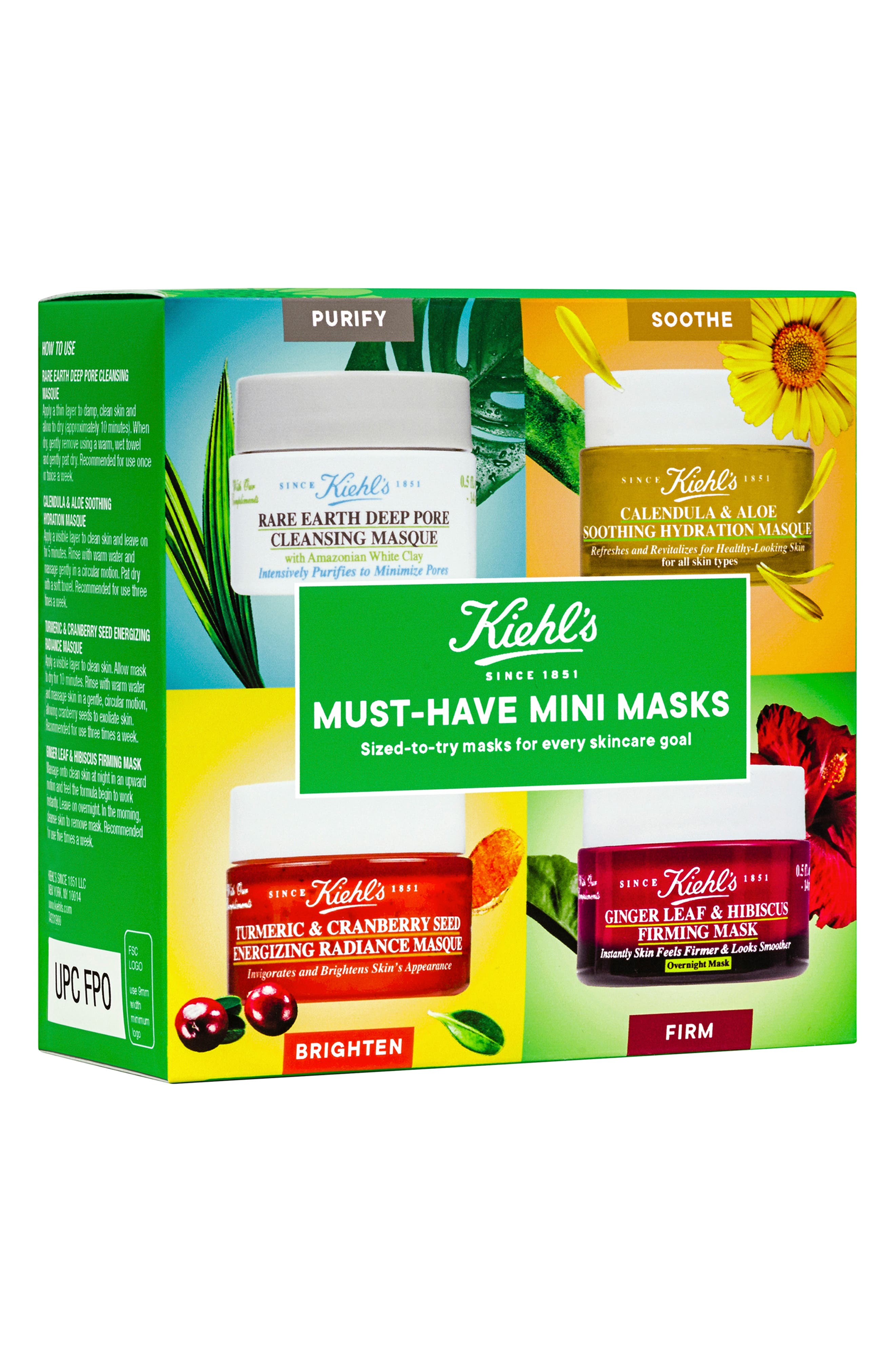 KIEHL'S SINCE 1851, Must-Have Mini Masks Set, Alternate thumbnail 2, color, NO COLOR