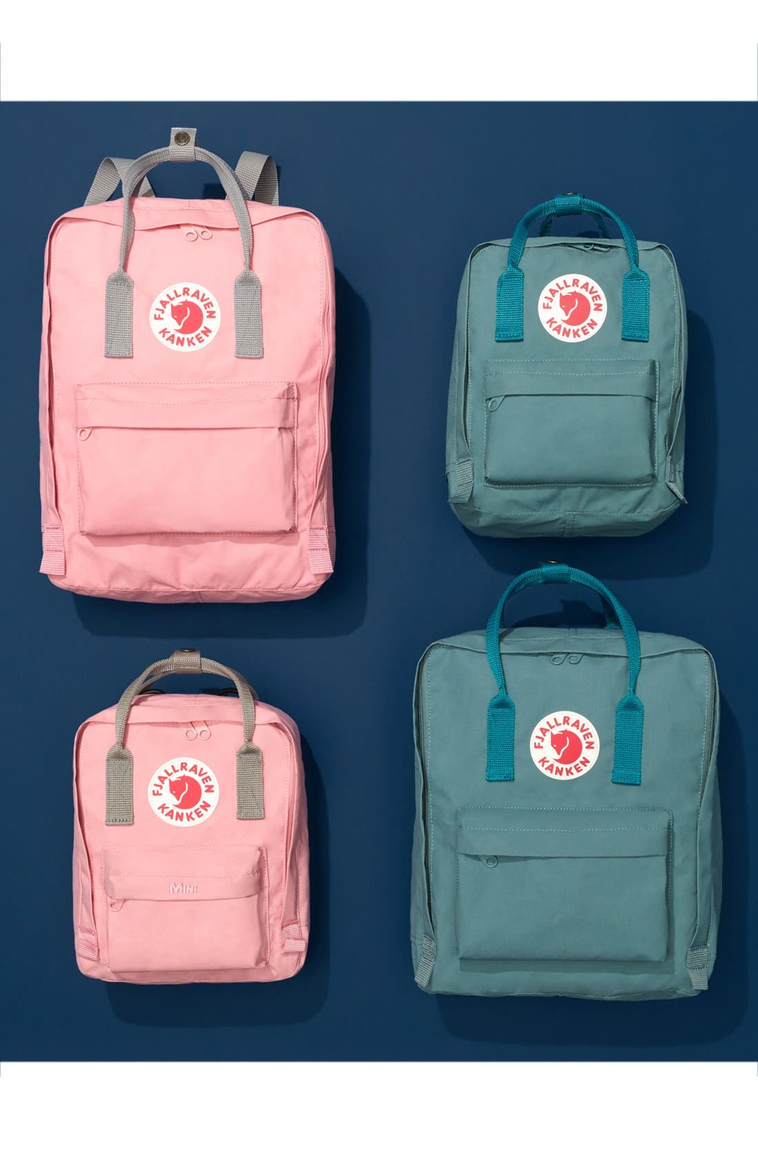 FJÄLLRÄVEN, Kånken Water Resistant Backpack, Alternate thumbnail 8, color, DAHLIA
