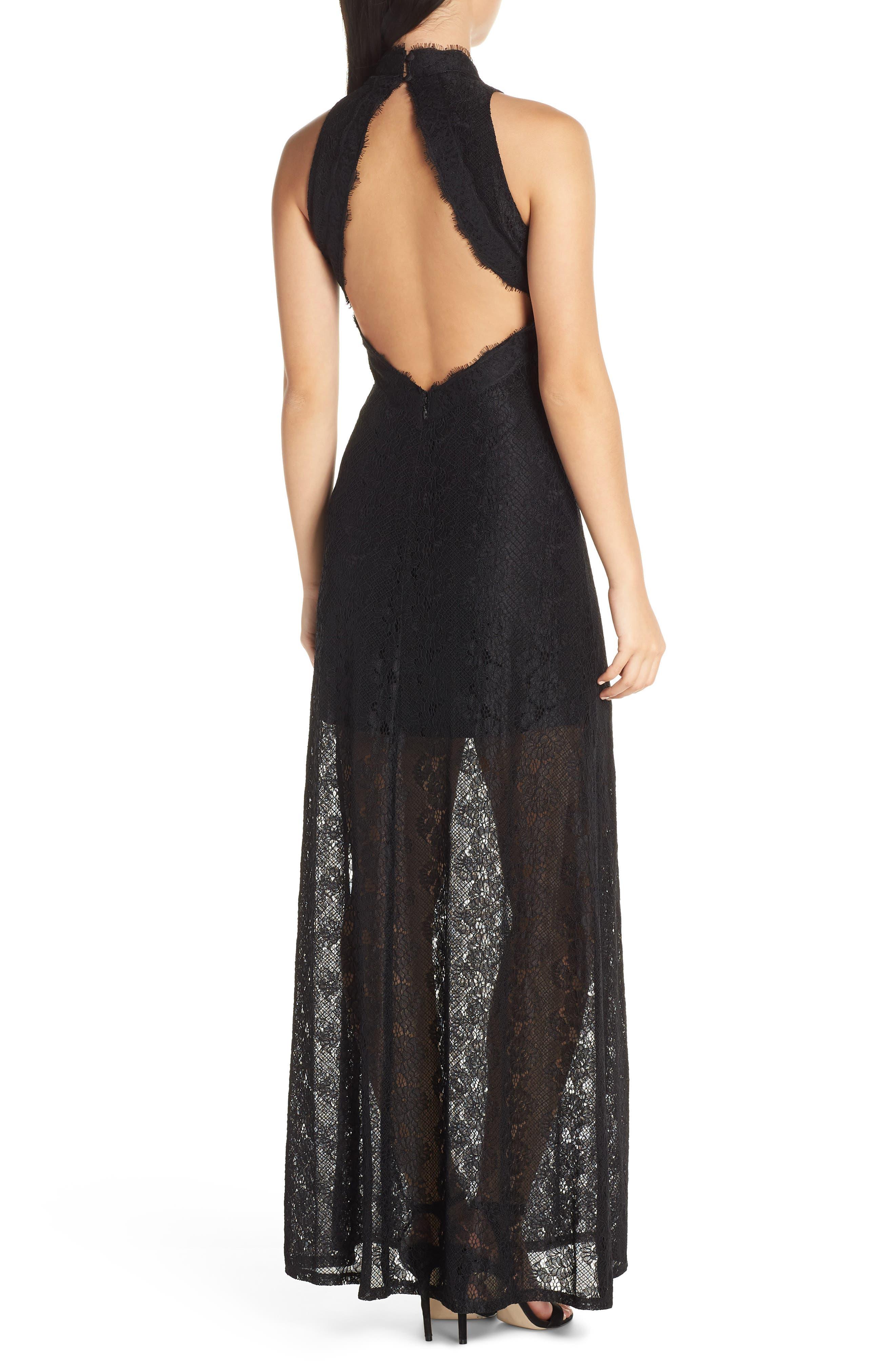 ALI & JAY, Return to Love Lace Maxi Dress, Alternate thumbnail 2, color, BLACK