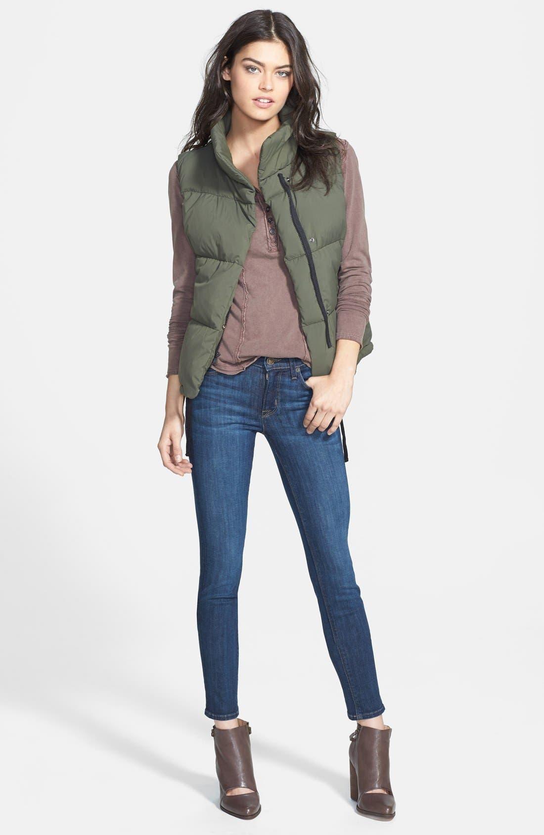 HUDSON JEANS, 'Collette' Skinny Jeans, Alternate thumbnail 3, color, 400