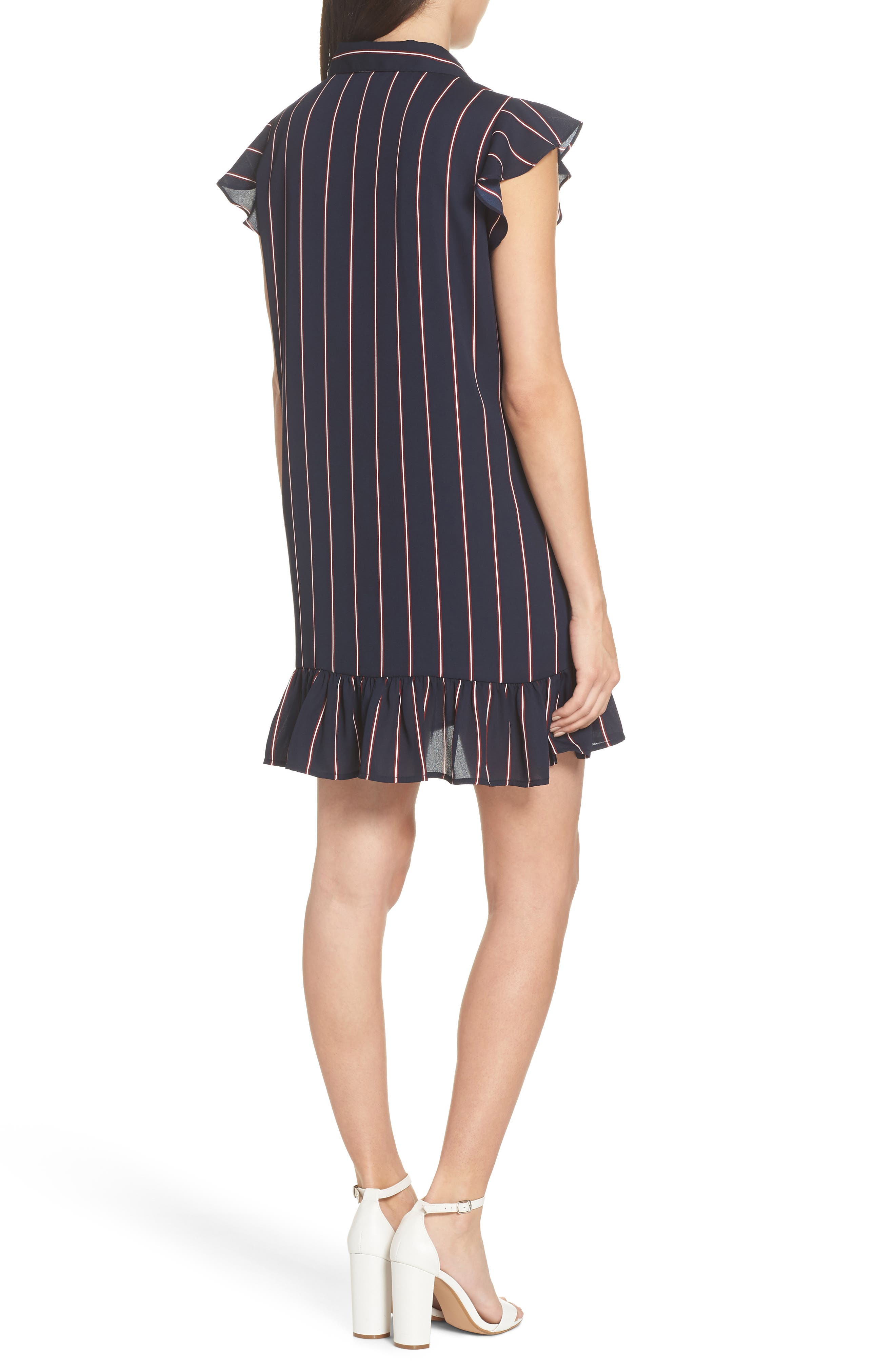 BB DAKOTA, American Pie Stripe Shirtdress, Alternate thumbnail 2, color, MIDNIGHT SKY