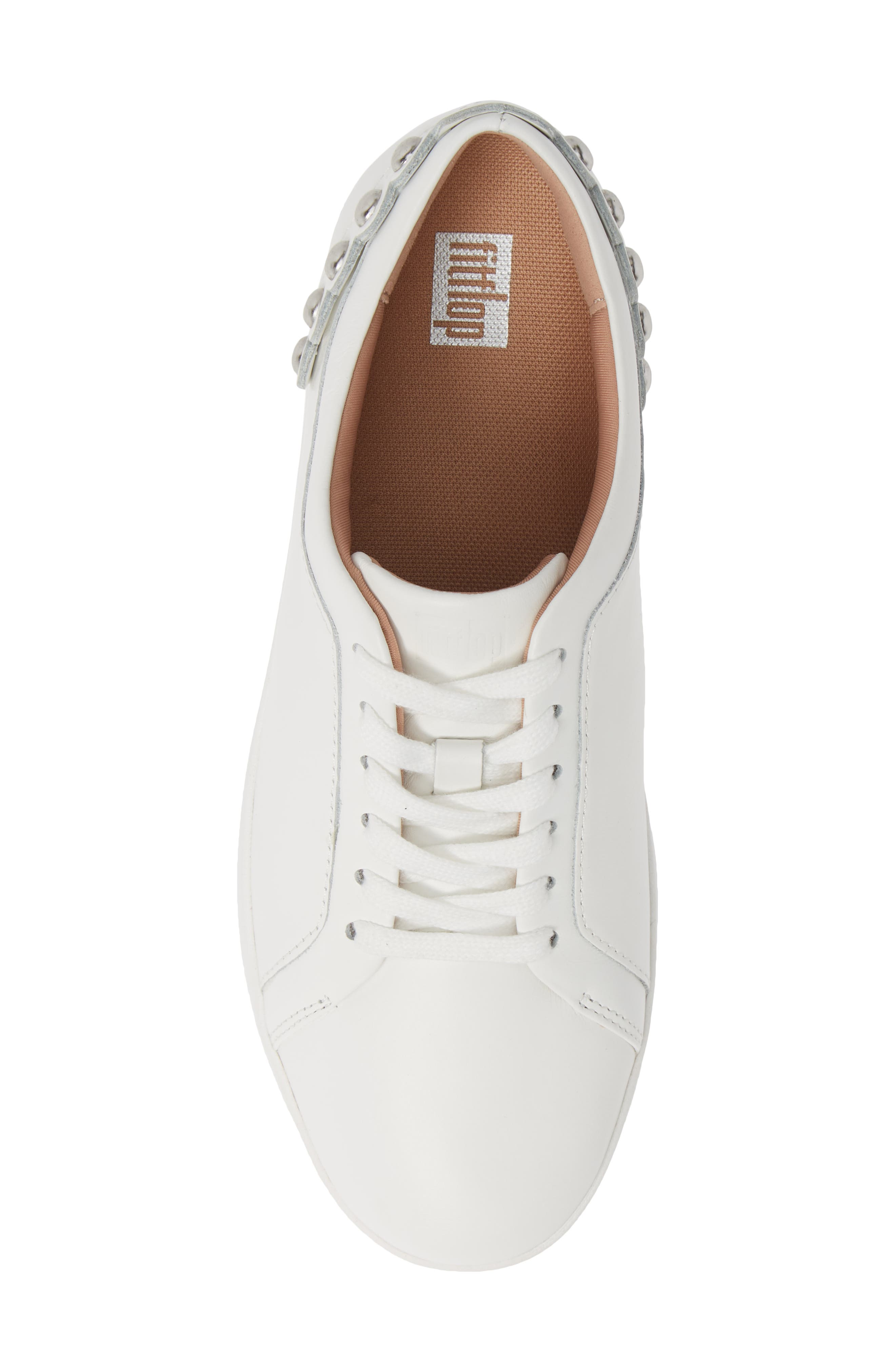 FITFLOP, Rally Studded Sneaker, Alternate thumbnail 5, color, URBAN WHITE LEATHER