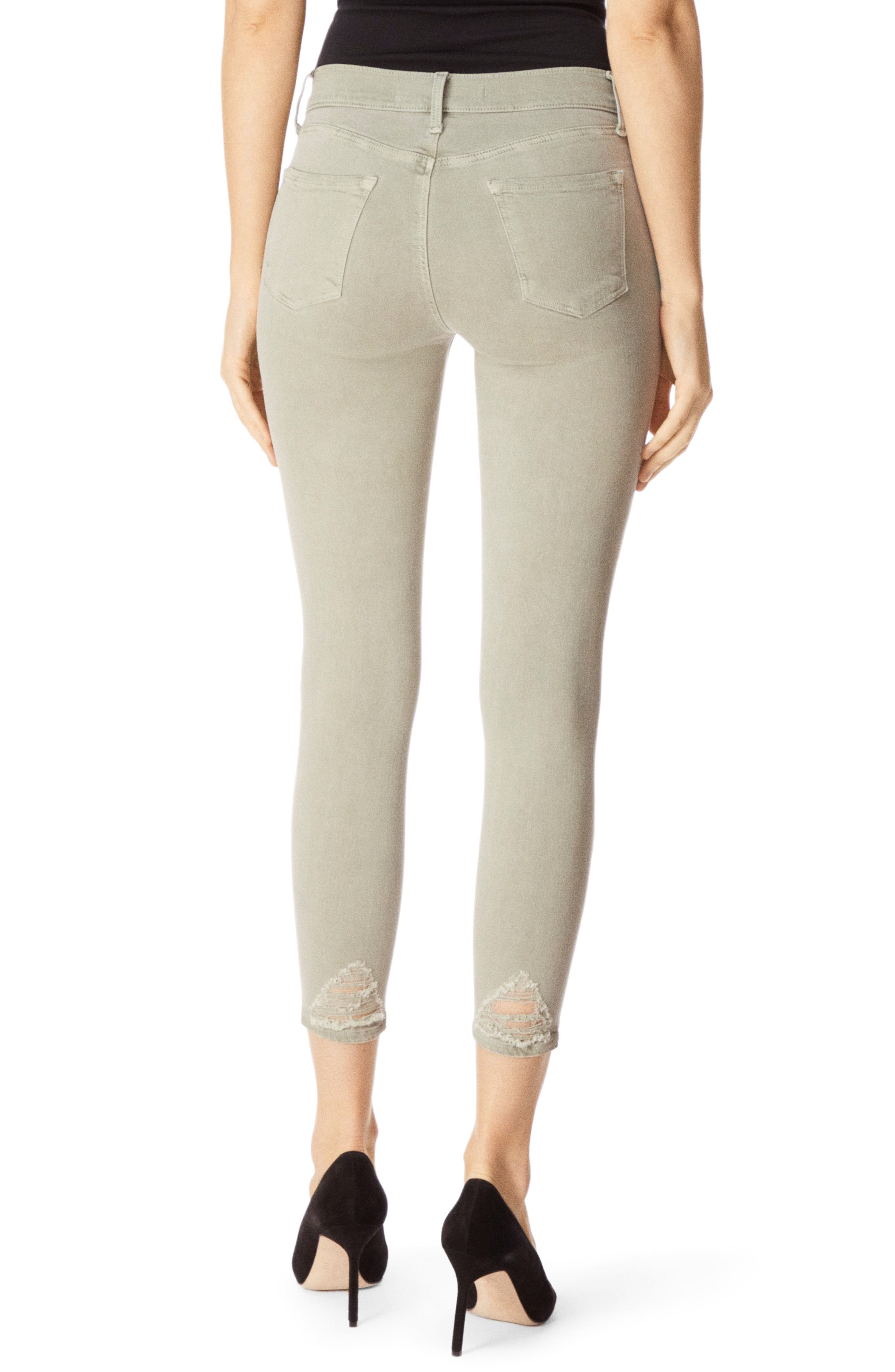J BRAND, 835 Capri Skinny Jeans, Alternate thumbnail 2, color, FADED GIBSON DESTRUCT