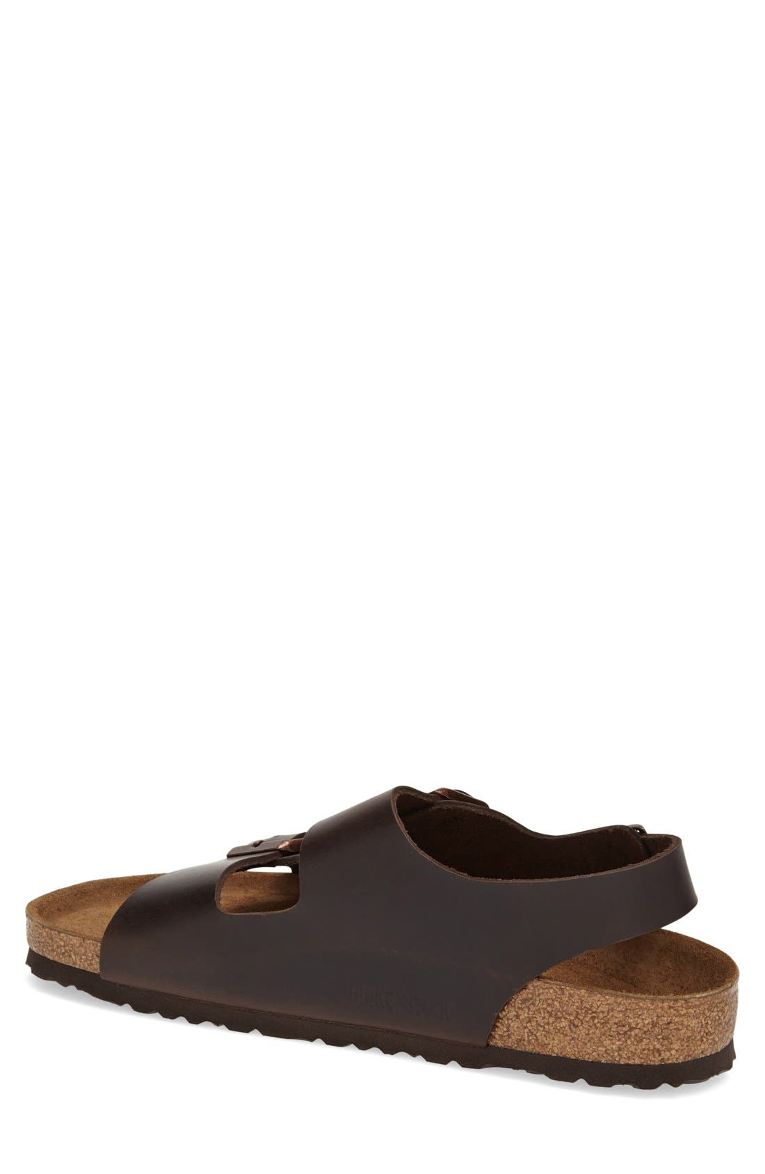 BIRKENSTOCK, 'Milano' Soft Footbed Sandal, Alternate thumbnail 2, color, AMALFI BROWN