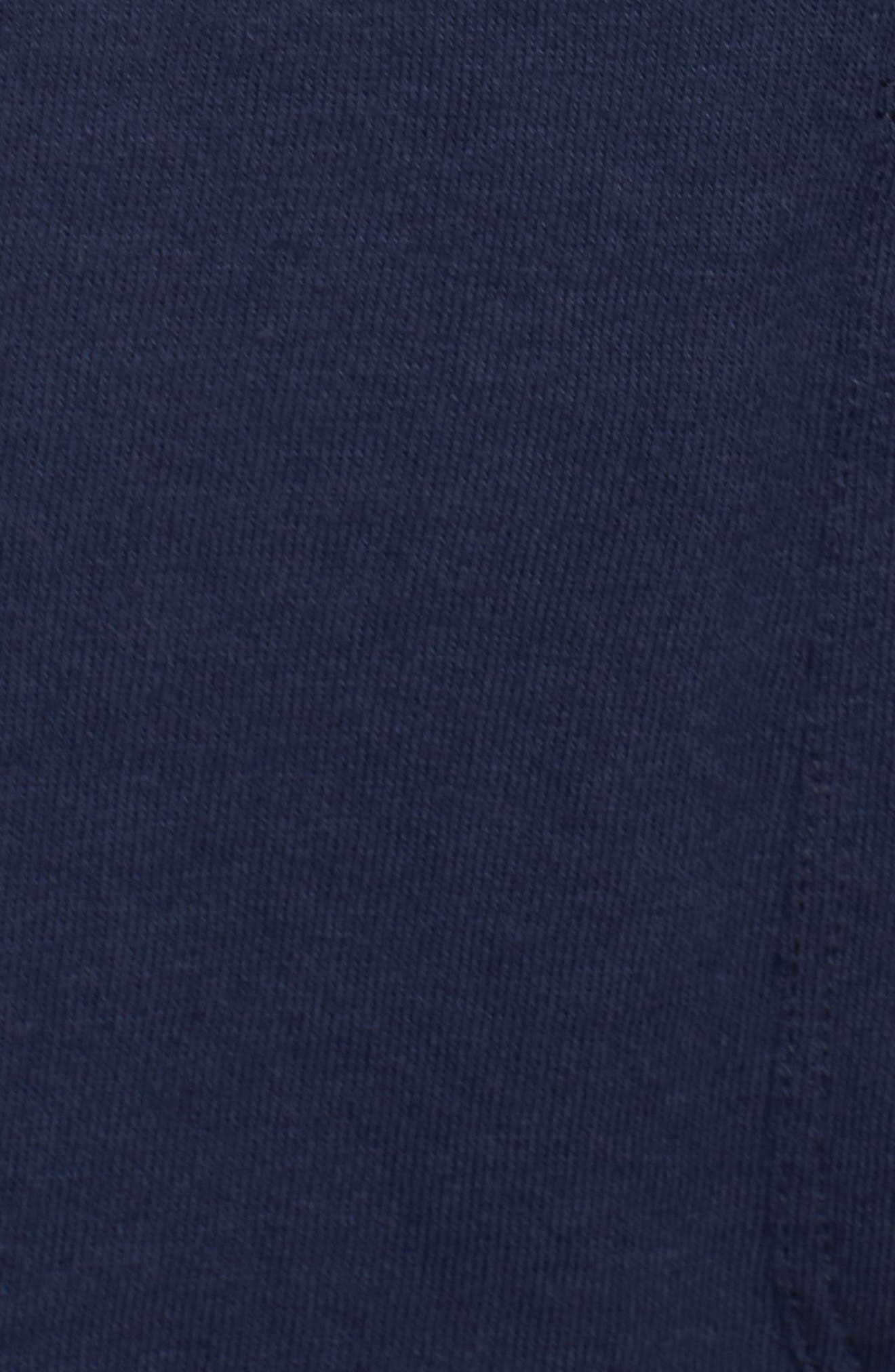 CASLON<SUP>®</SUP>, Double Pocket Knit Blazer, Alternate thumbnail 7, color, NAVY PEACOAT