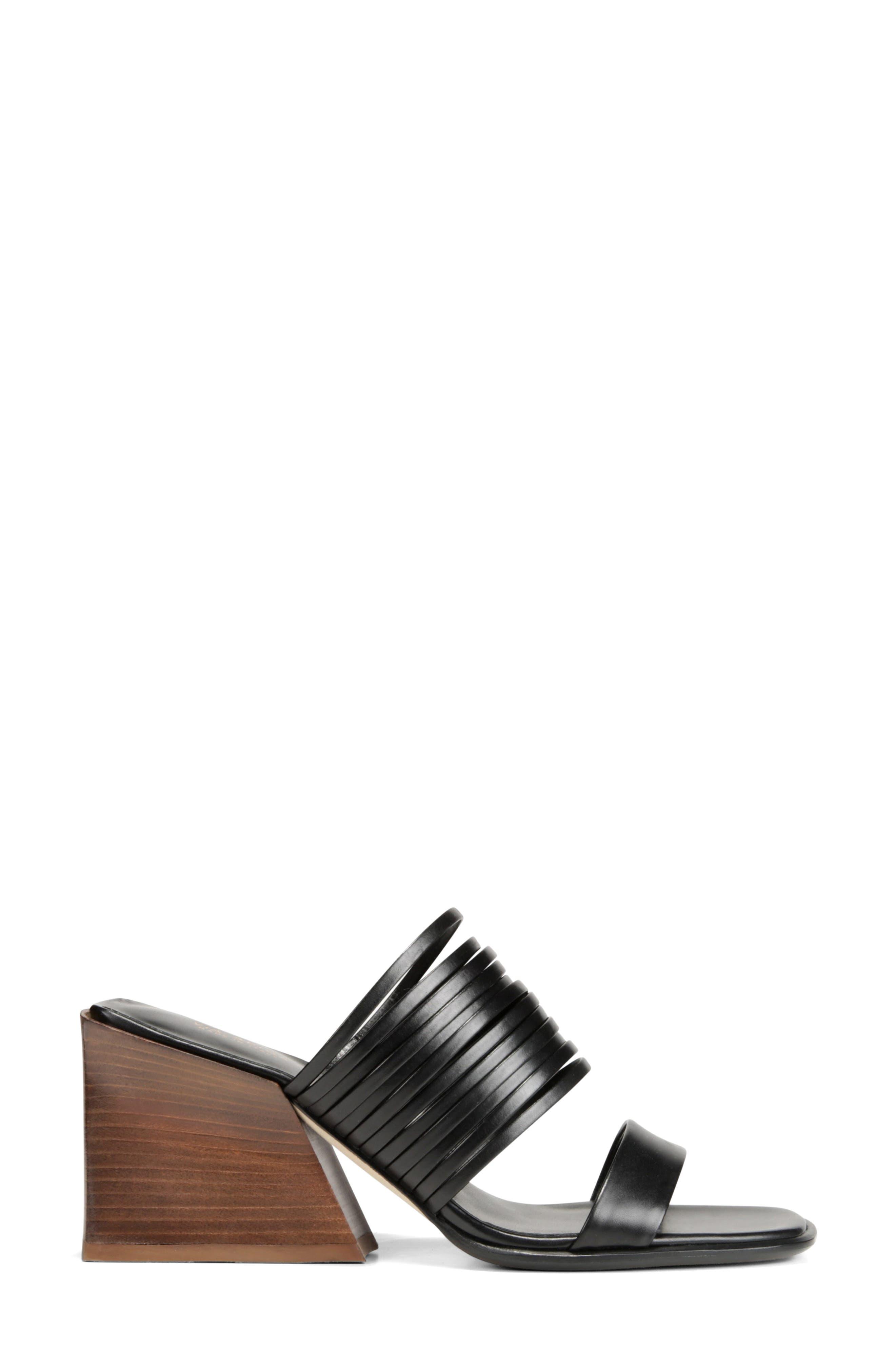 VIA SPIGA, Mariam Slide Sandal, Alternate thumbnail 3, color, BLACK