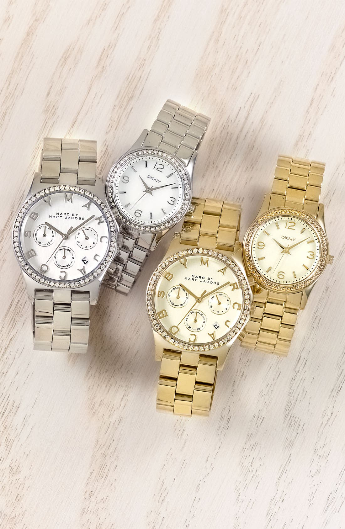 MARC JACOBS, 'Henry' Chronograph & Crystal Topring Watch, 40mm, Alternate thumbnail 4, color, 040