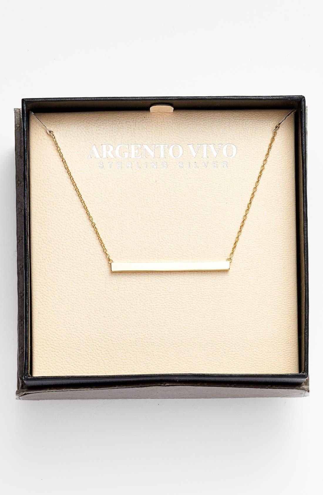 ARGENTO VIVO, Bar Pendant Necklace, Alternate thumbnail 6, color, GOLD