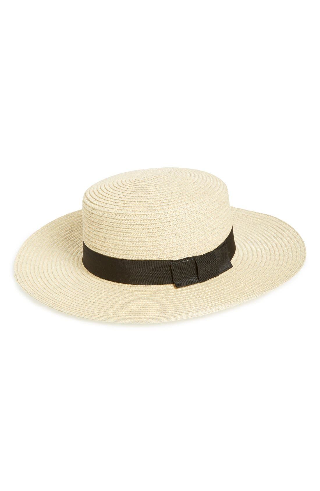 BP., Straw Boater Hat, Main thumbnail 1, color, 250
