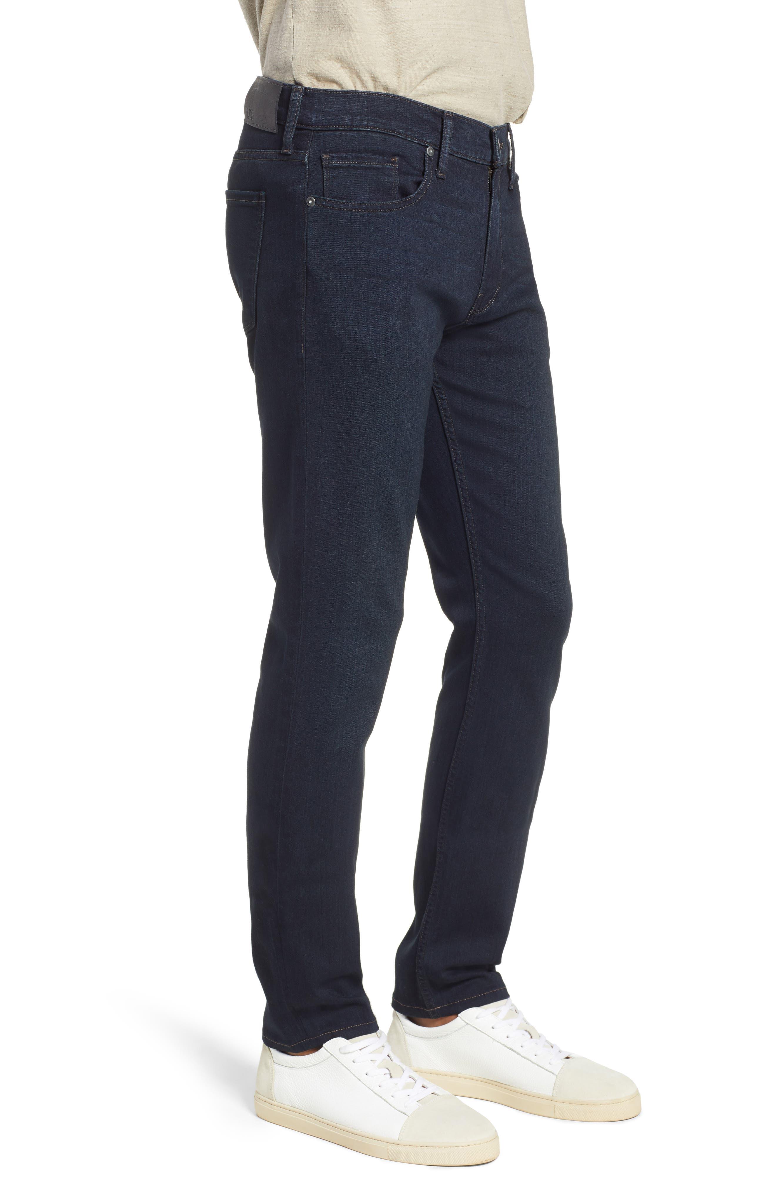 PAIGE, Transcend – Lennox Slim Fit Jeans, Alternate thumbnail 4, color, DOMINIC