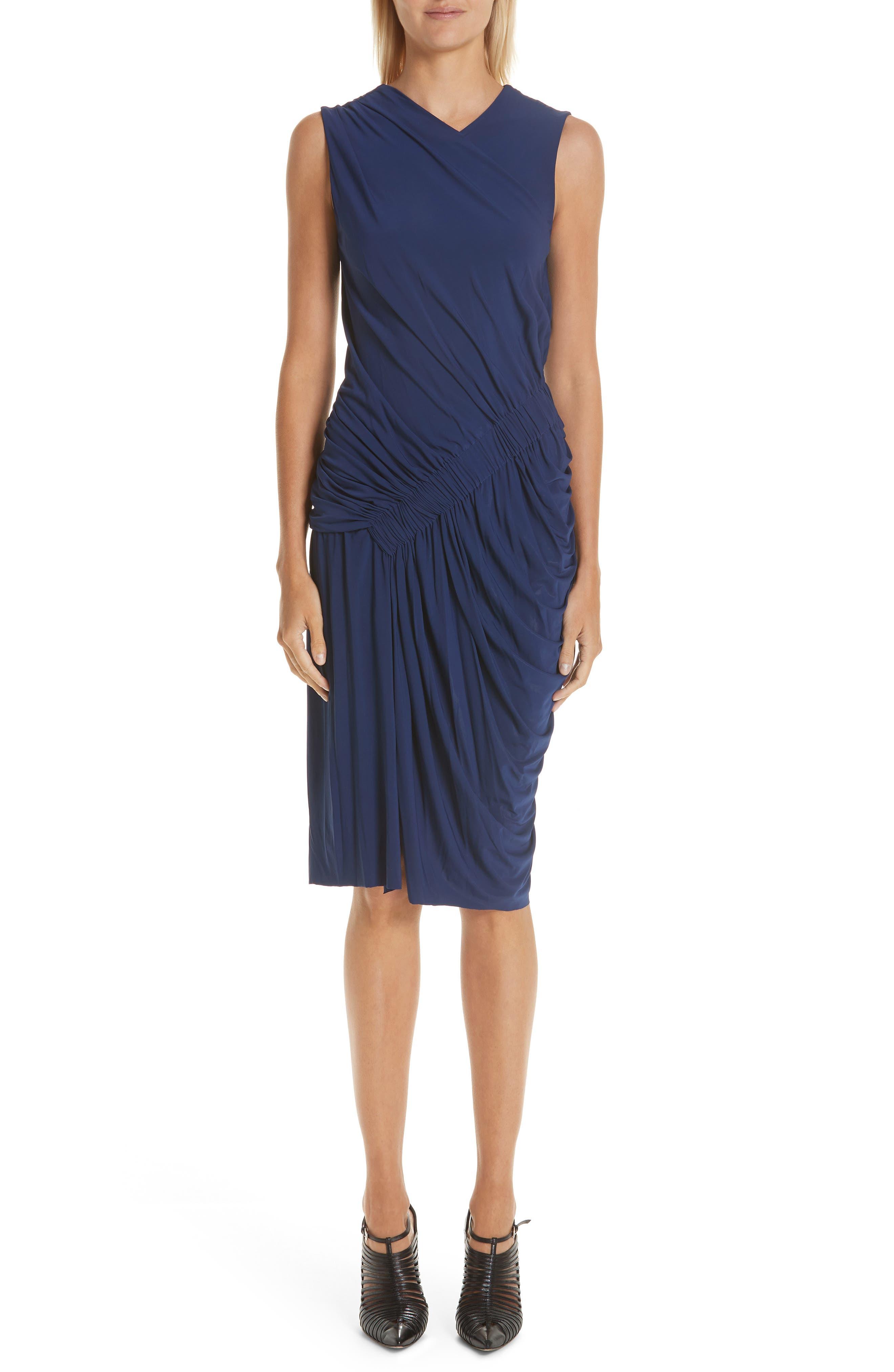 Jason Wu Collection Ruched Jersey Sheath Dress, Blue