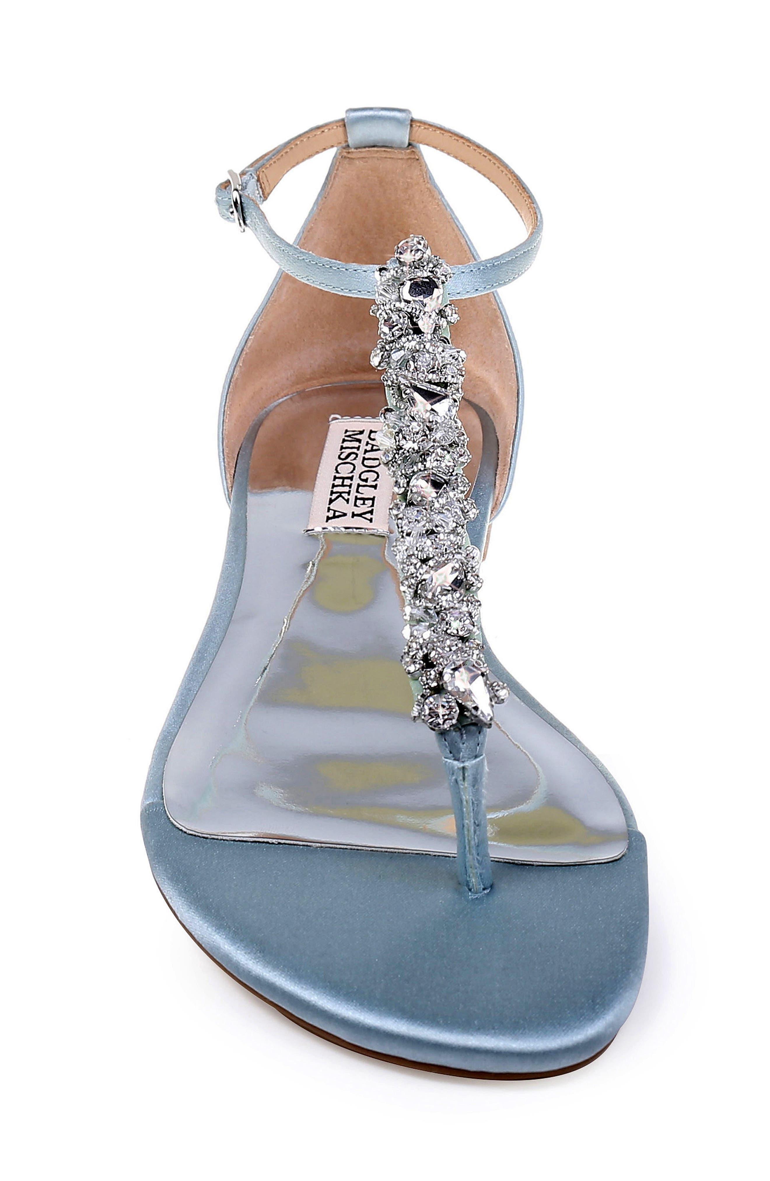 Badgley Mischka Holbrook T-Strap Sandal- Blue