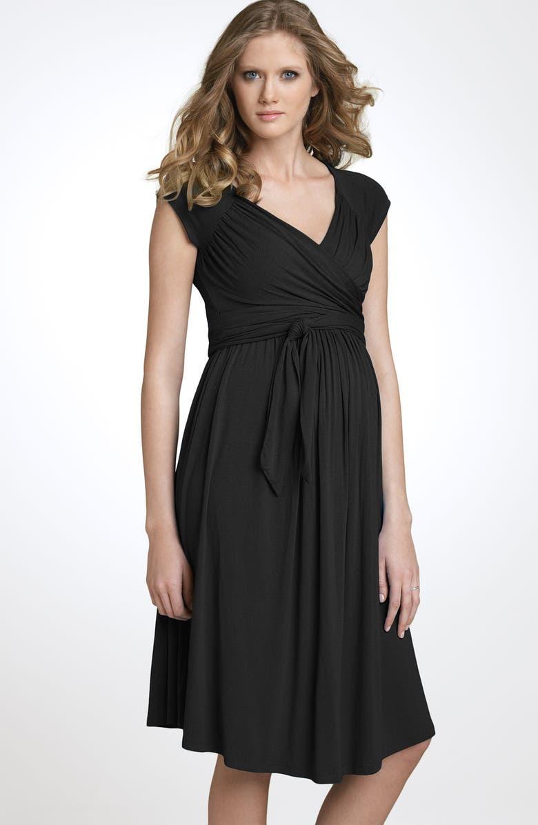 8baca3a3c254f OLIAN Jersey Maternity Wrap Dress, Main, color, 001