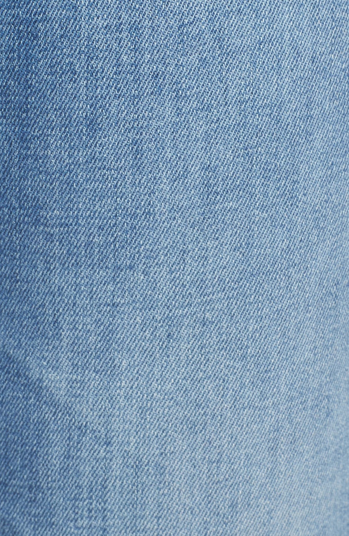 AG, The Isabelle High Waist Straight Leg Jeans, Alternate thumbnail 6, color, 13Y AWESTRUCK