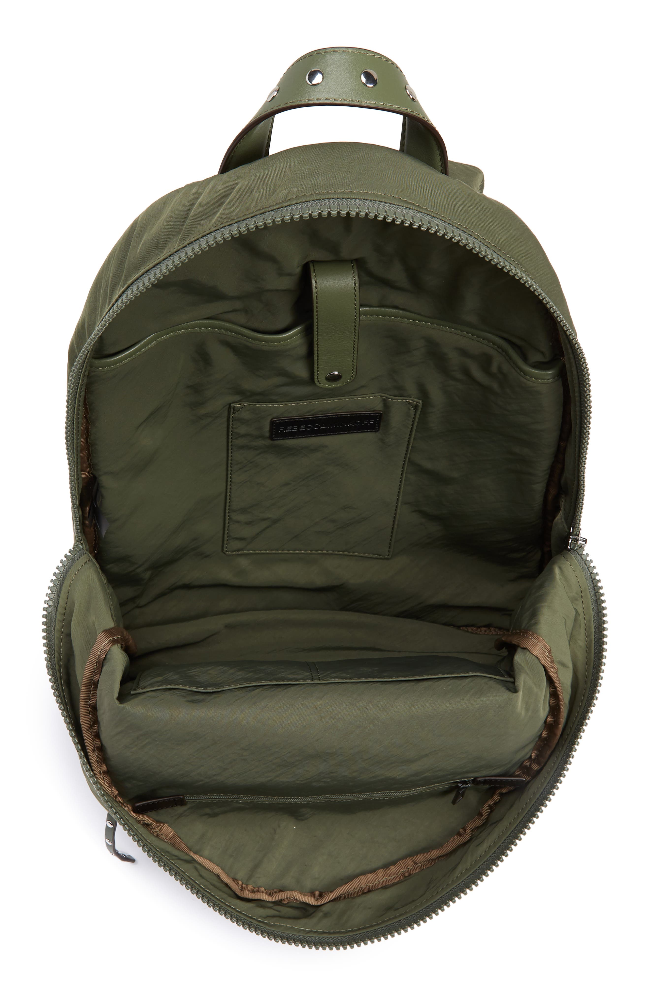 REBECCA MINKOFF, Always On MAB Backpack, Alternate thumbnail 4, color, OLIVE