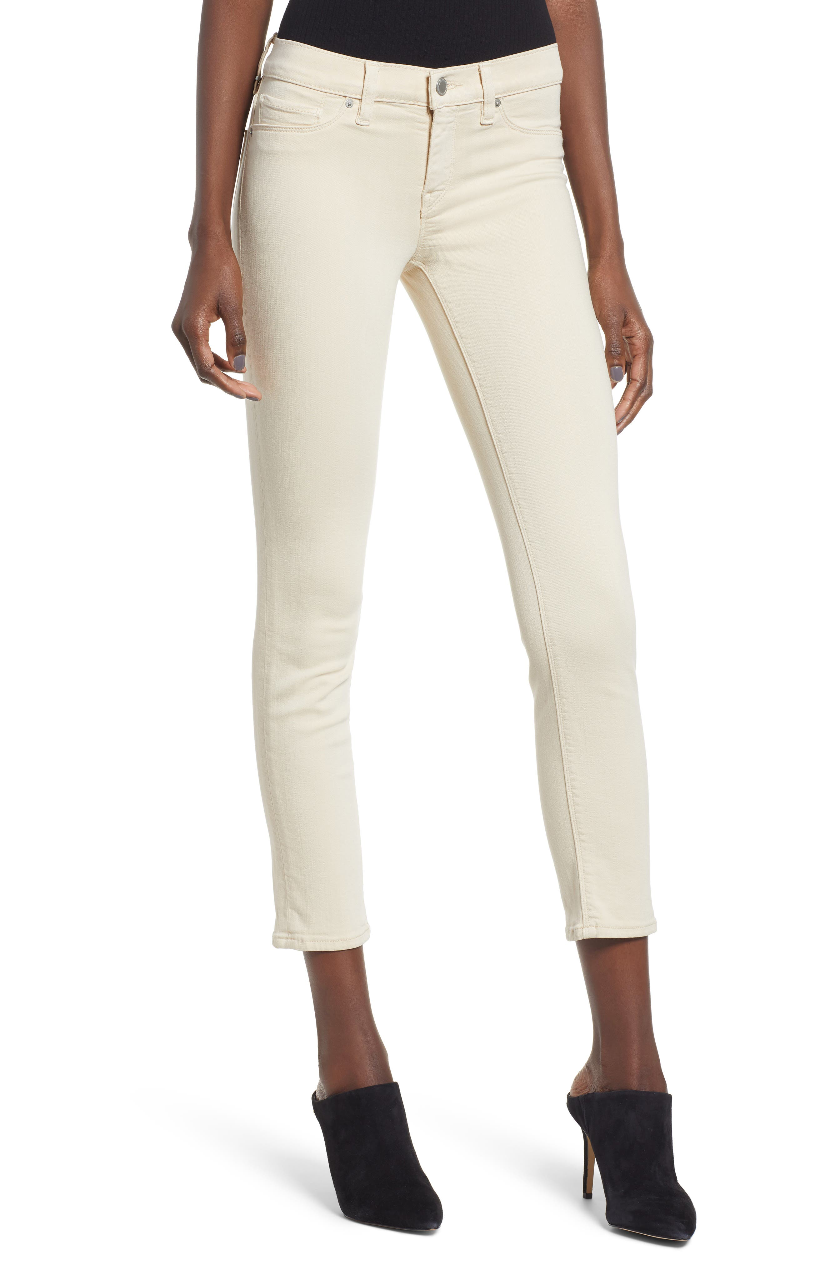 HUDSON JEANS Tally Ankle Skinny Jeans, Main, color, FAWN