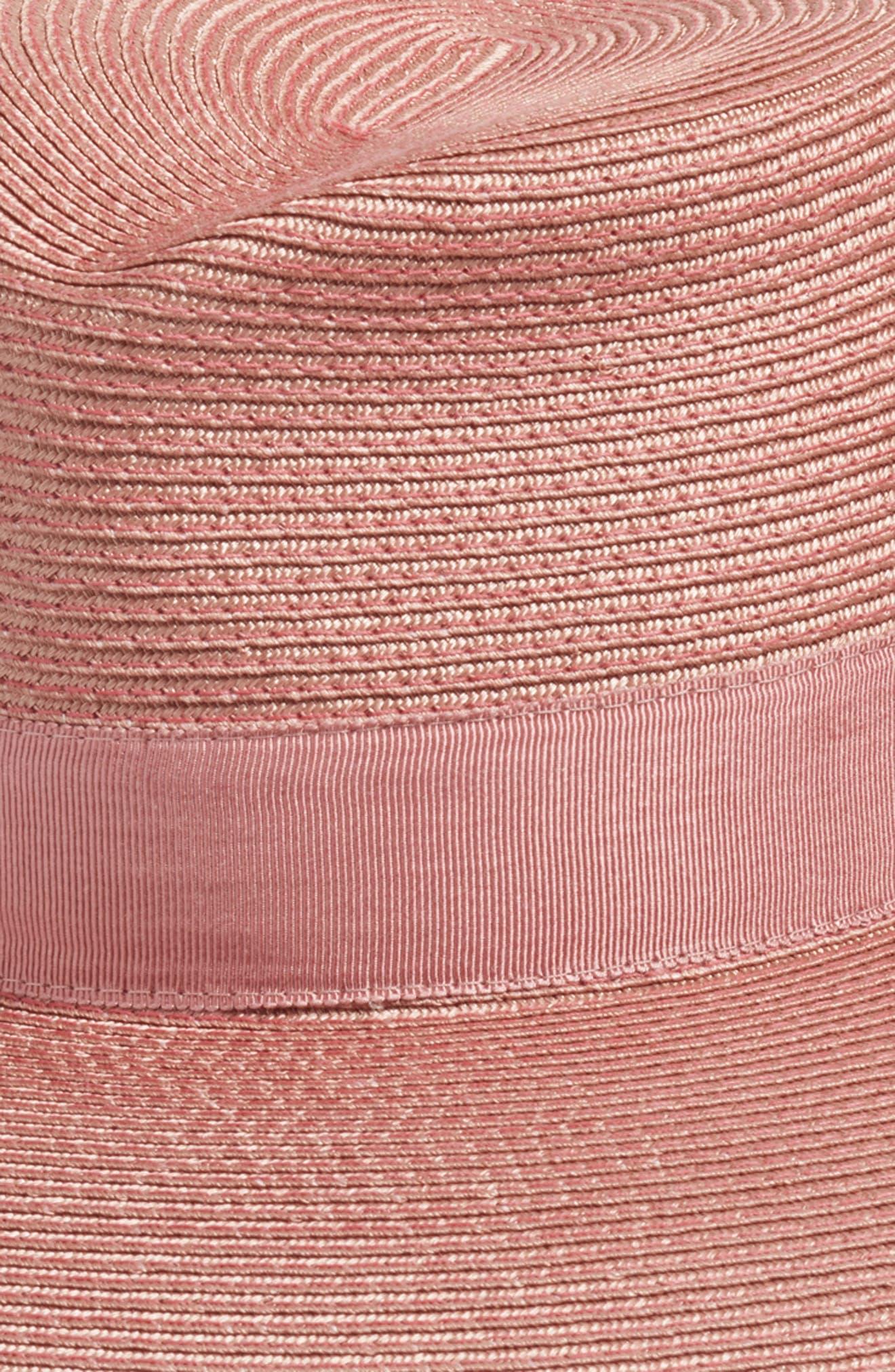 ERIC JAVITS, 'Daphne' Broad Brim Fedora, Alternate thumbnail 3, color, BLUSH