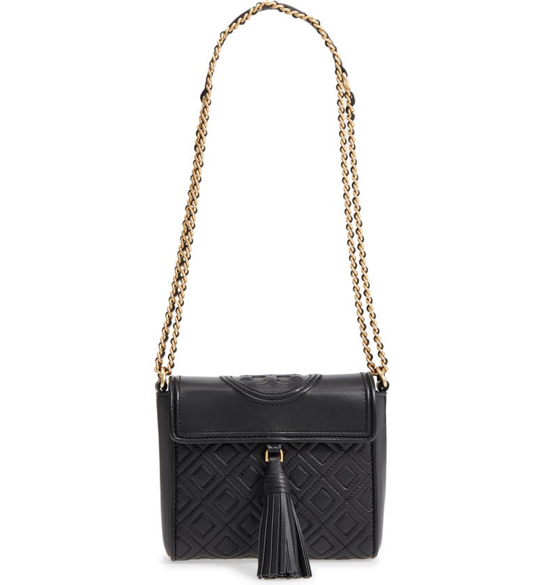 f00e831db12 Tory Burch Fleming Quilted Leather Crossbody Bag
