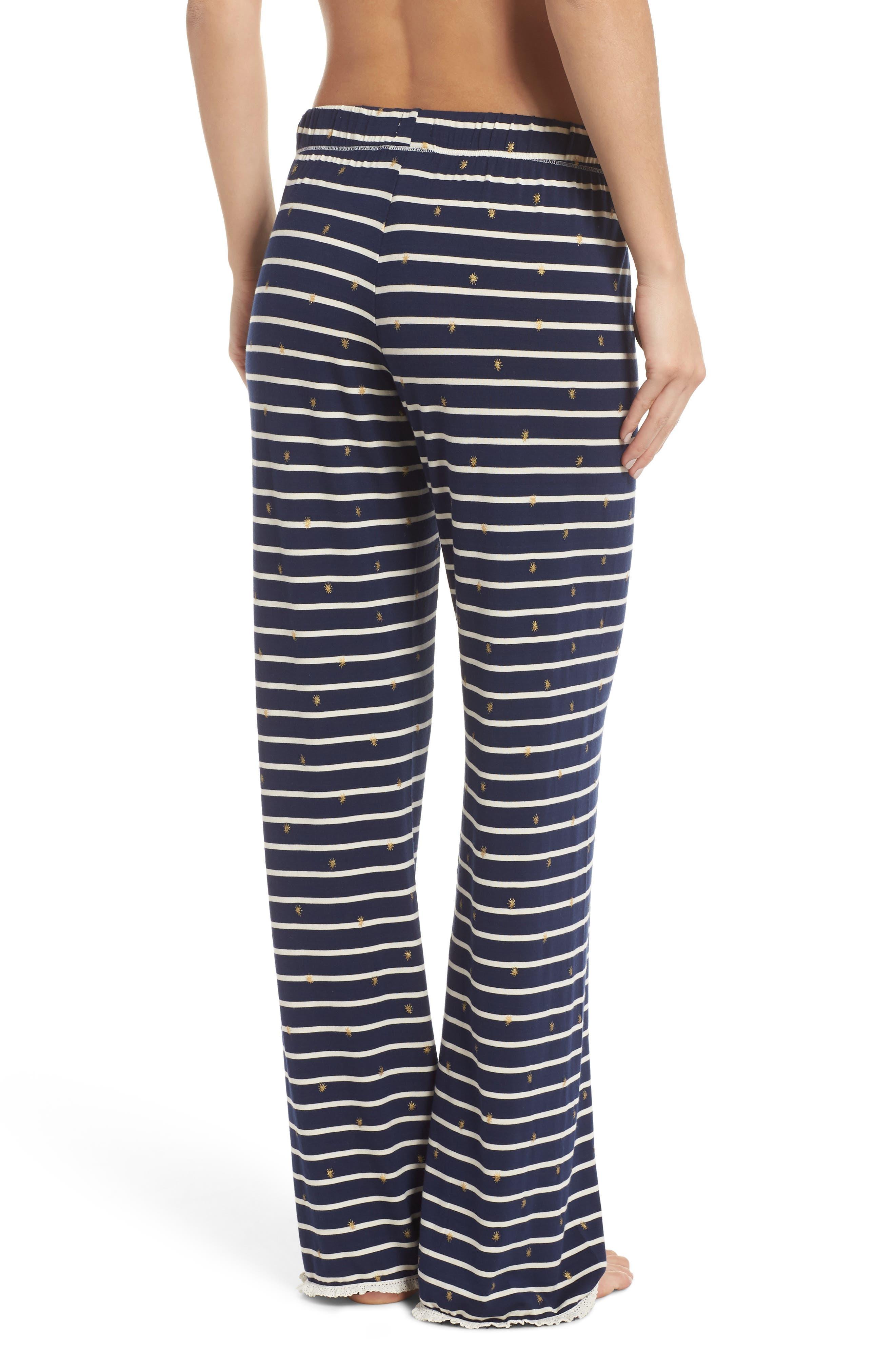 HATLEY, Cozy Pajama Pants, Alternate thumbnail 2, color, BLUE