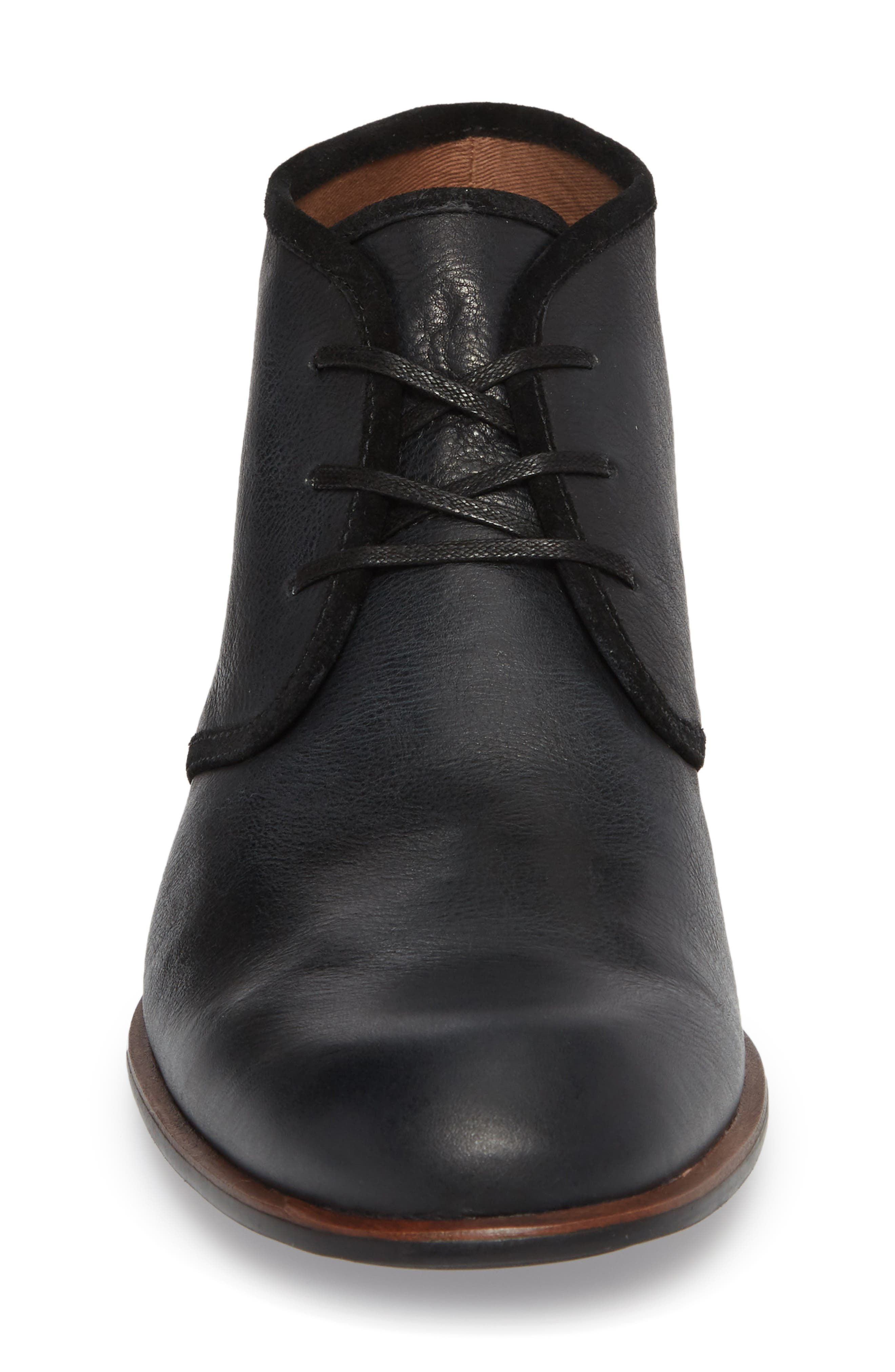 JOHN VARVATOS, Star USA Seagher Chukka Boot, Alternate thumbnail 4, color, 001