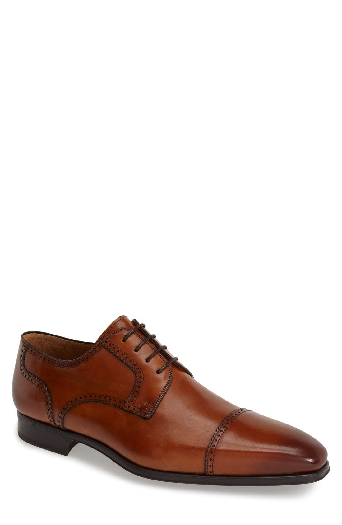 MAGNANNI 'Carlito' Cap Toe Derby, Main, color, 219