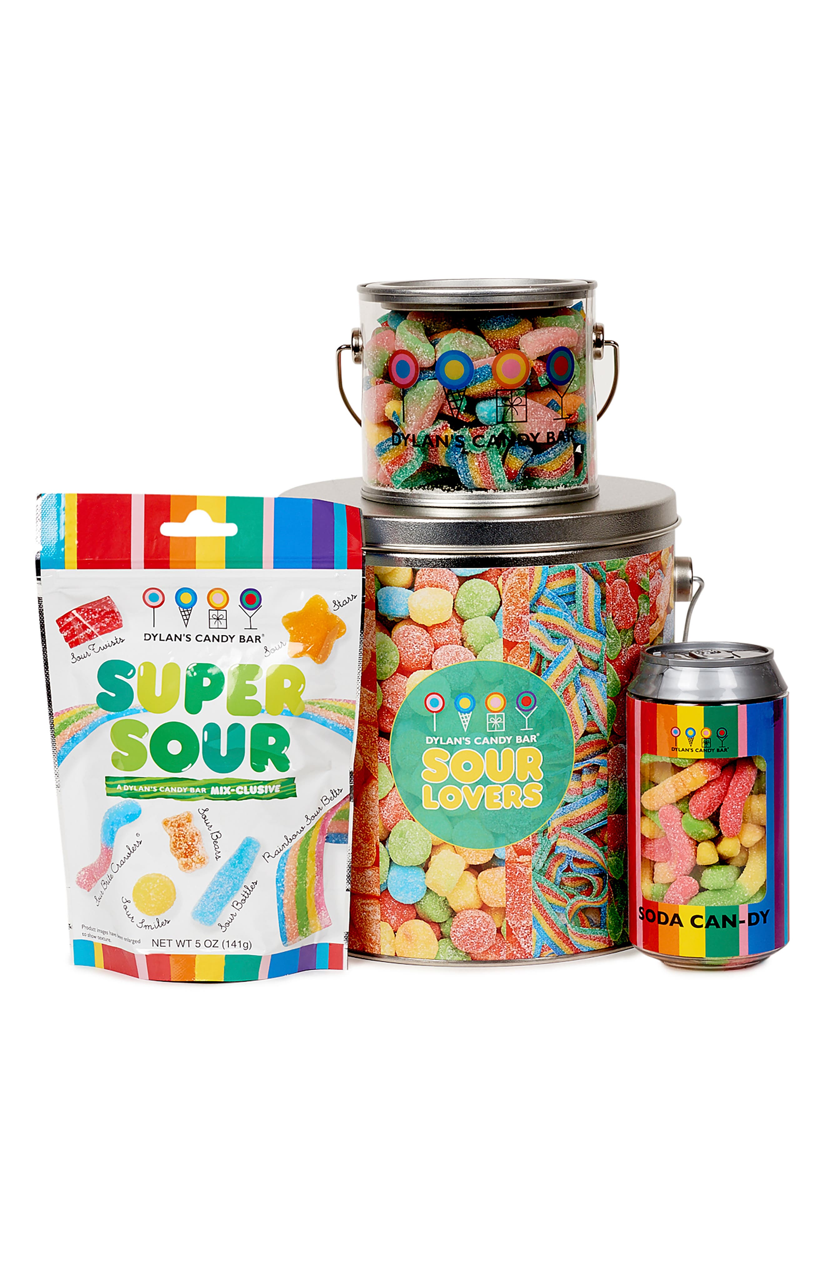 DYLAN'S CANDY BAR, Sour Lovers Bucket, Main thumbnail 1, color, MULTI