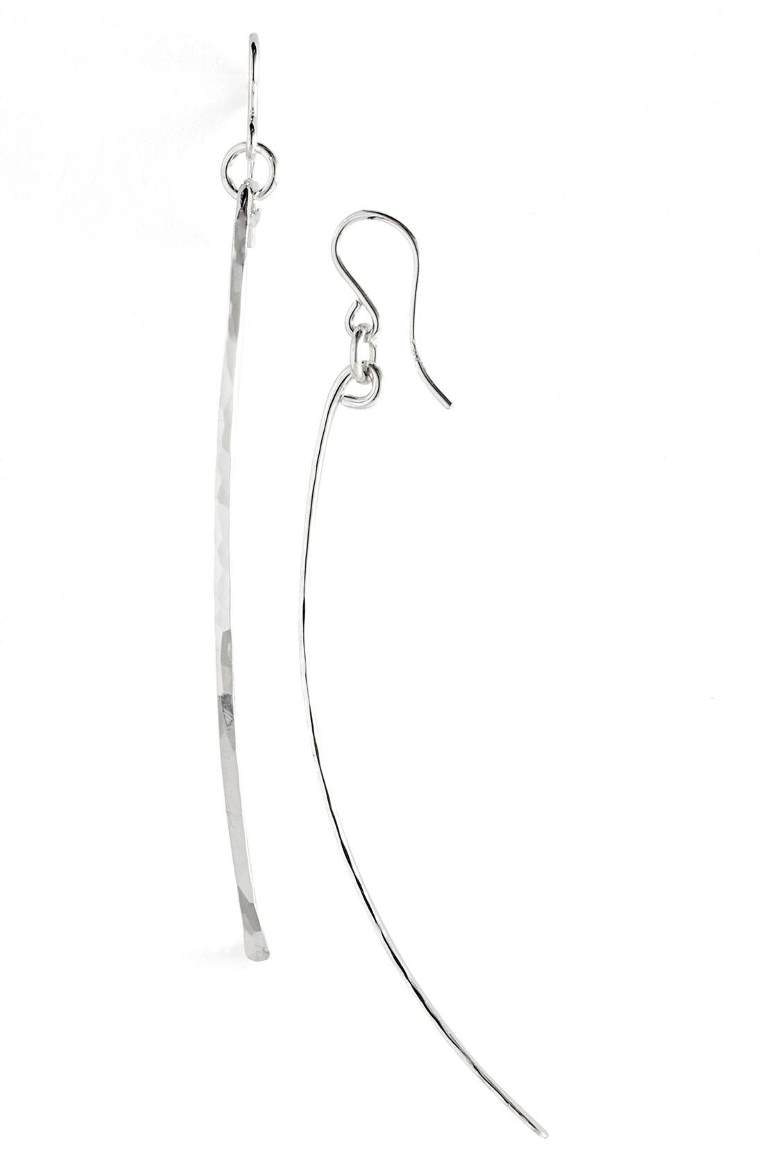 NASHELLE Ija Twig Drop Earrings, Main, color, STERLING SILVER