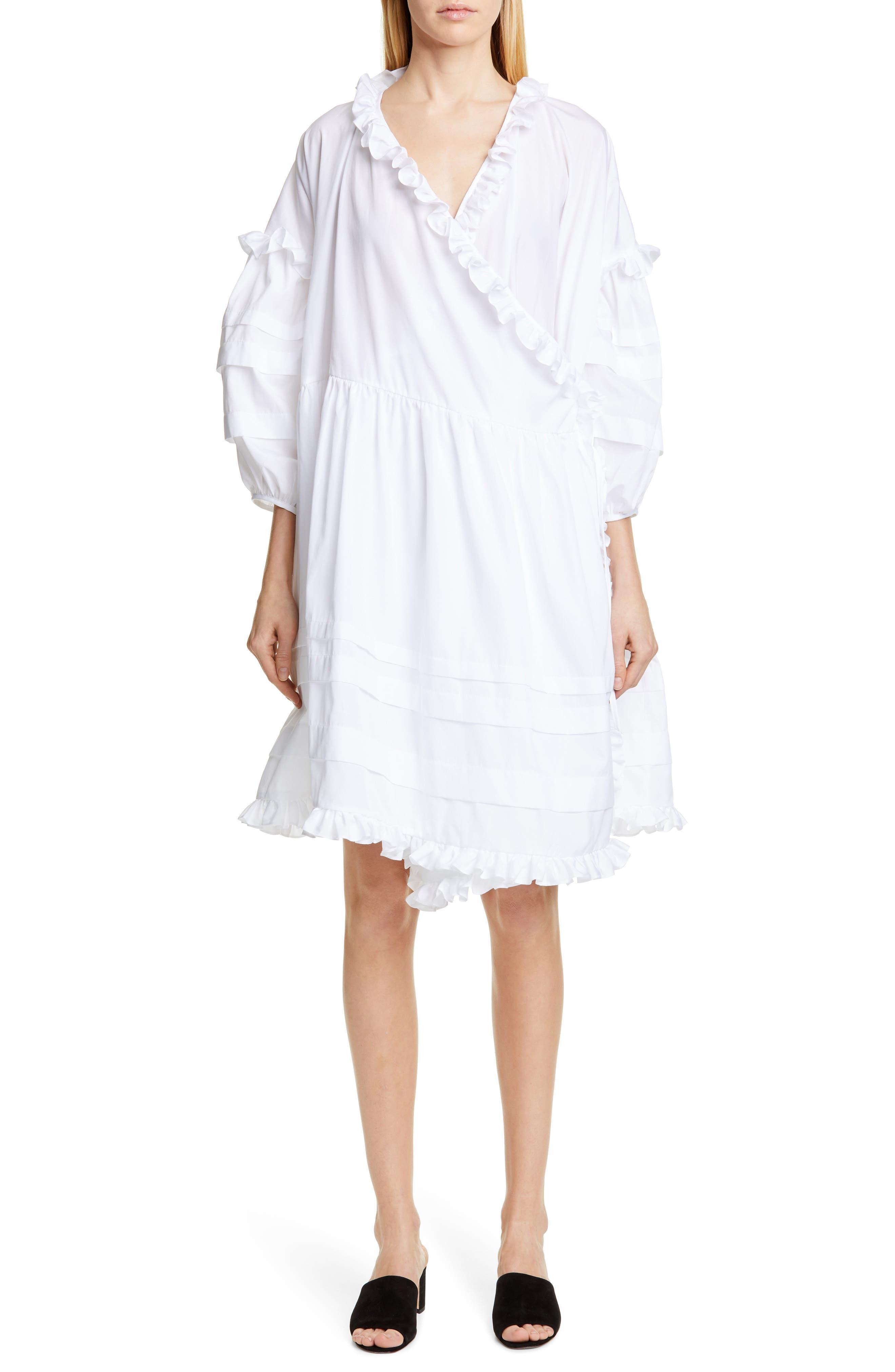 Cecilie Bahnsen Paulina Wrap Dress, White