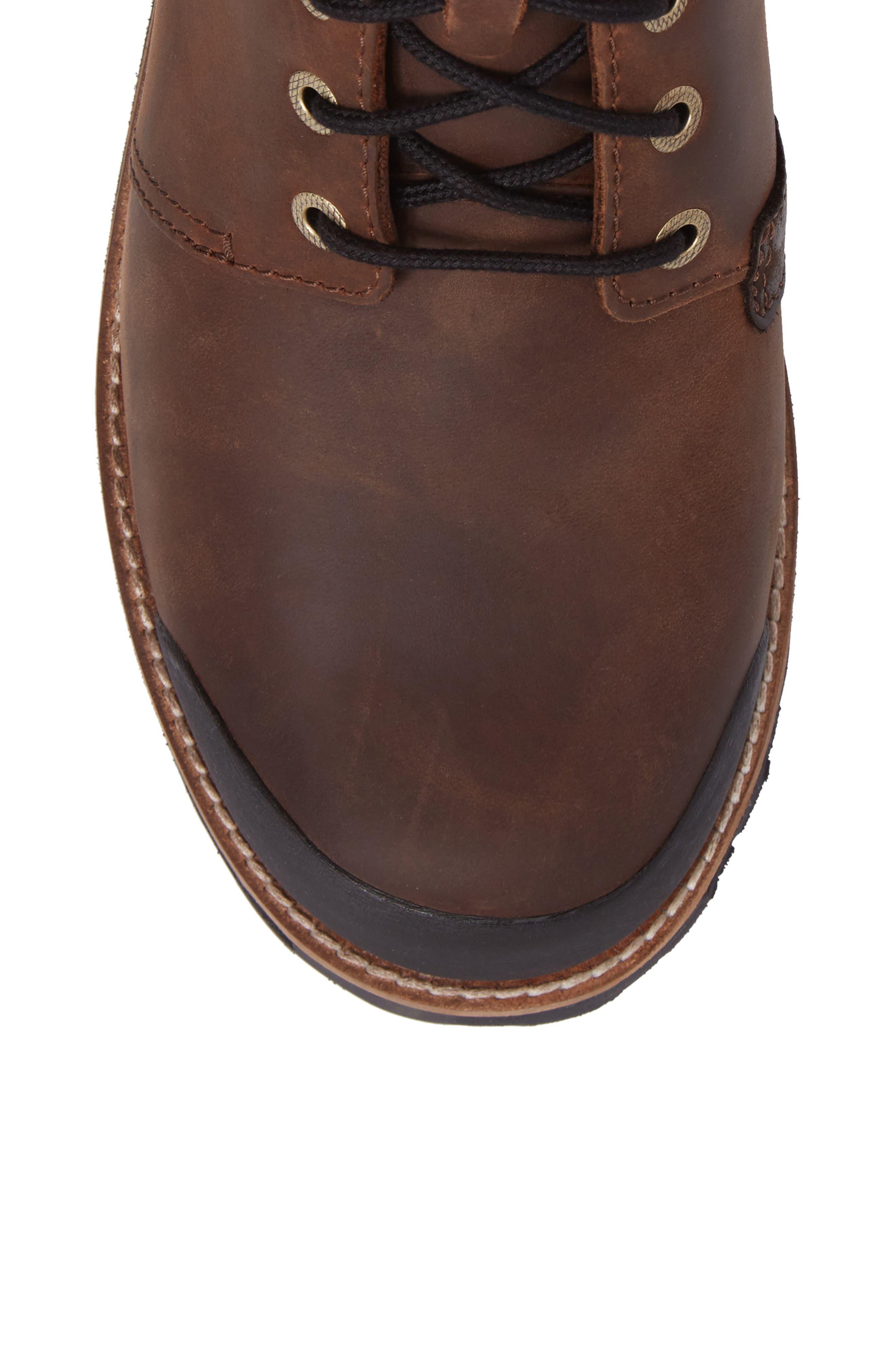 KEEN, The Rocker Waterproof Plain Toe Boot, Alternate thumbnail 5, color, BIG BEN/ EIFFEL