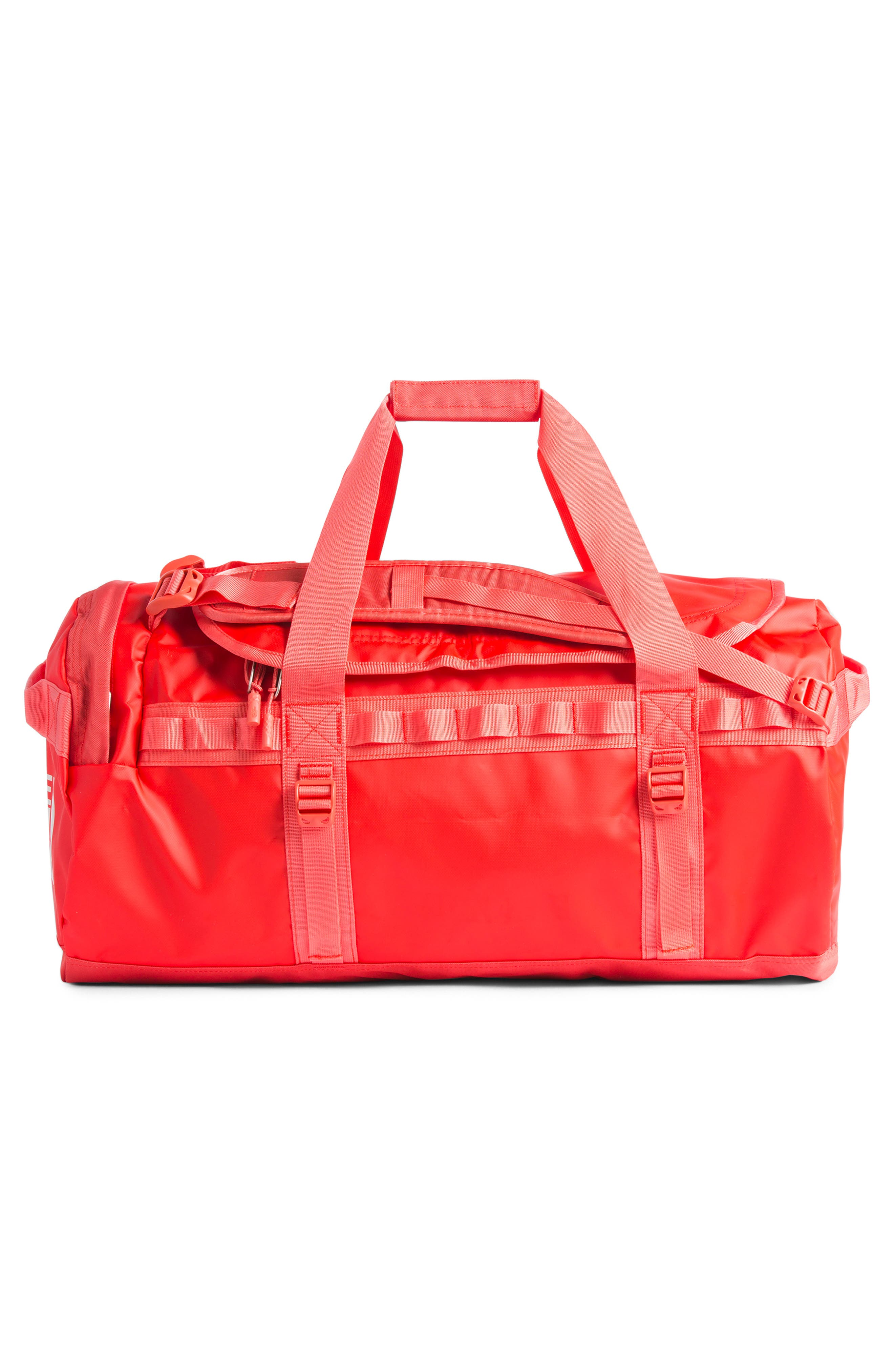 THE NORTH FACE, Base Camp Medium Duffle Bag, Alternate thumbnail 2, color, JUICY RED/ SPICED CORAL