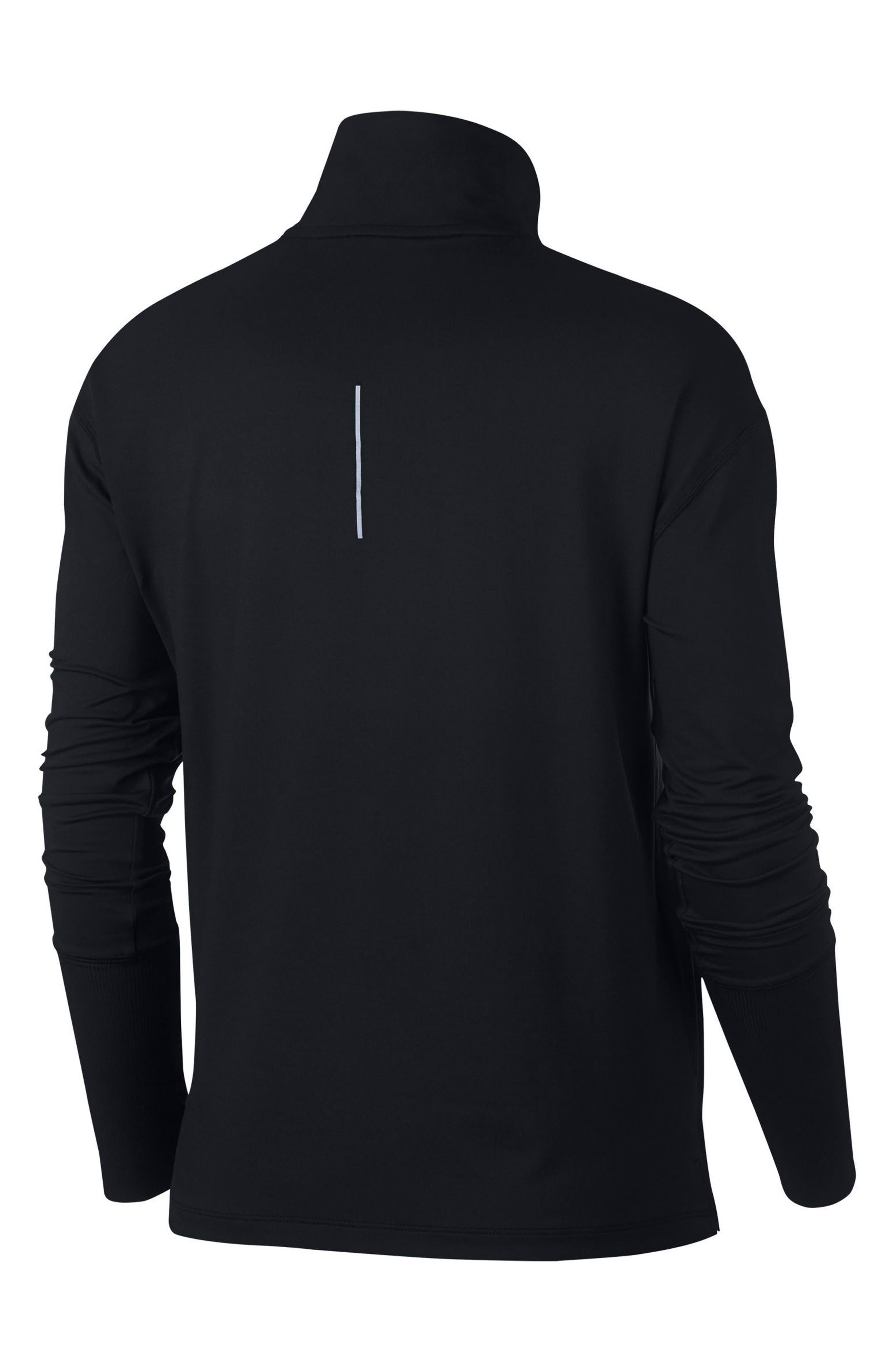 NIKE, Element Long-Sleeve Running Top, Alternate thumbnail 8, color, BLACK