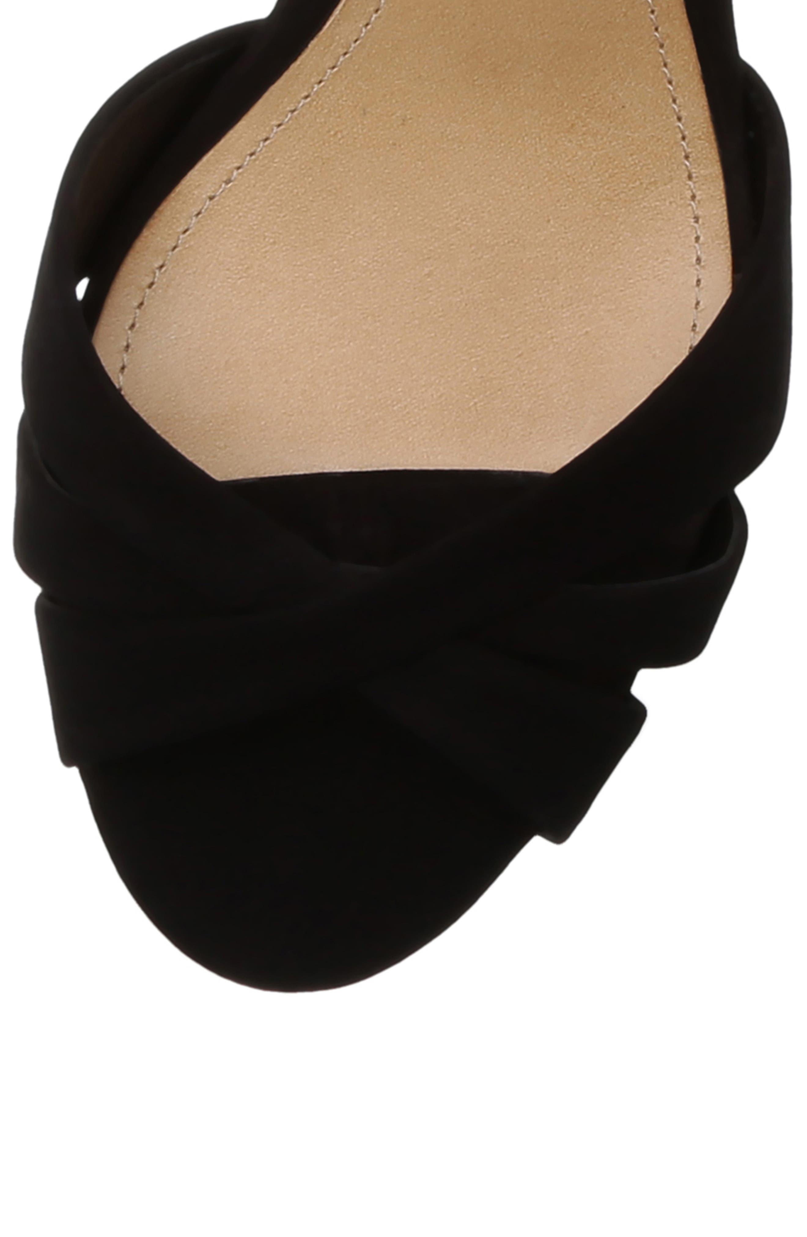 SCHUTZ, Keefa Platform Sandal, Alternate thumbnail 5, color, BLACK NUBUCK LEATHER