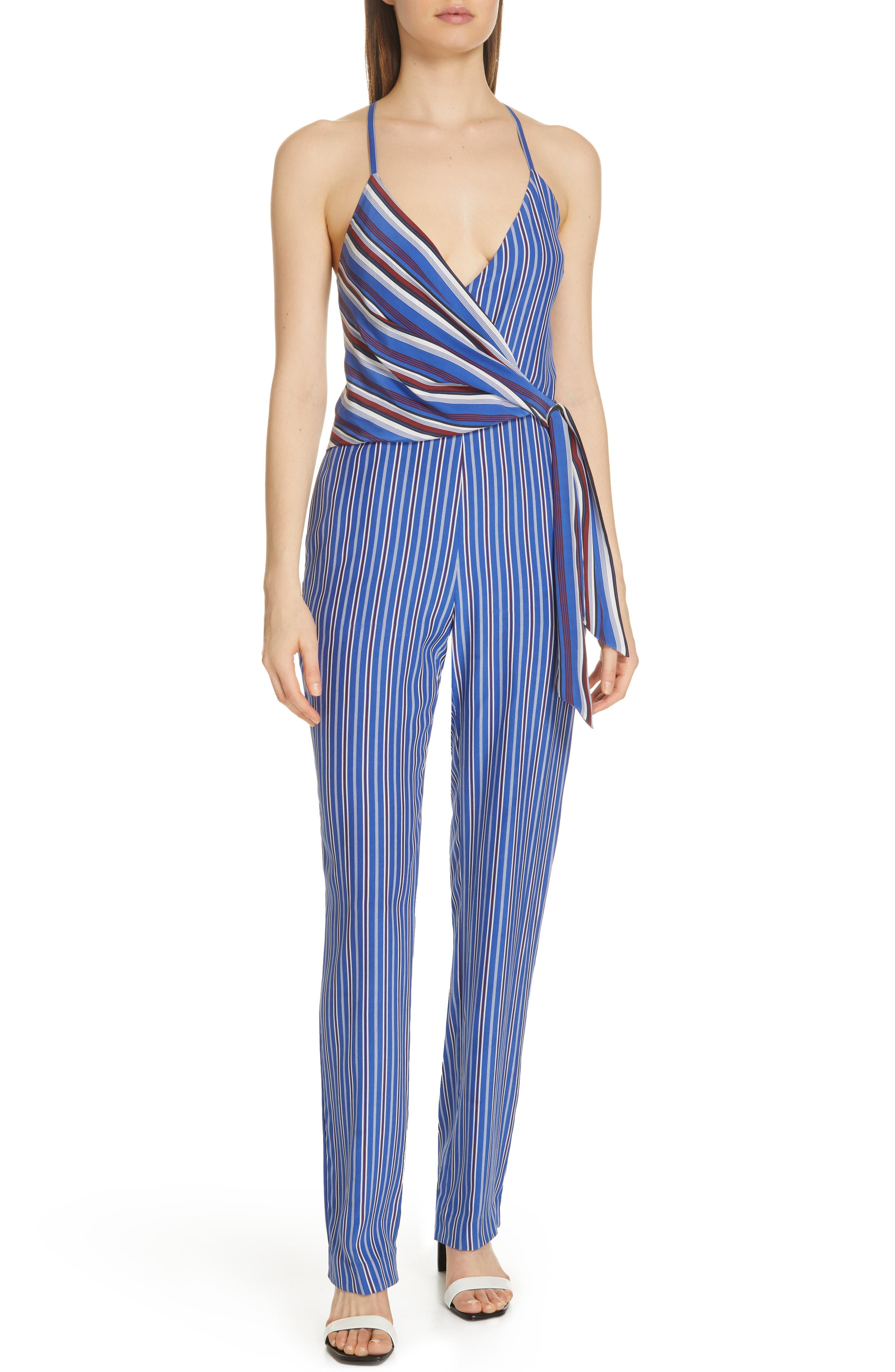 RAG & BONE, Felix Stripe Silk Jumpsuit, Main thumbnail 1, color, 474
