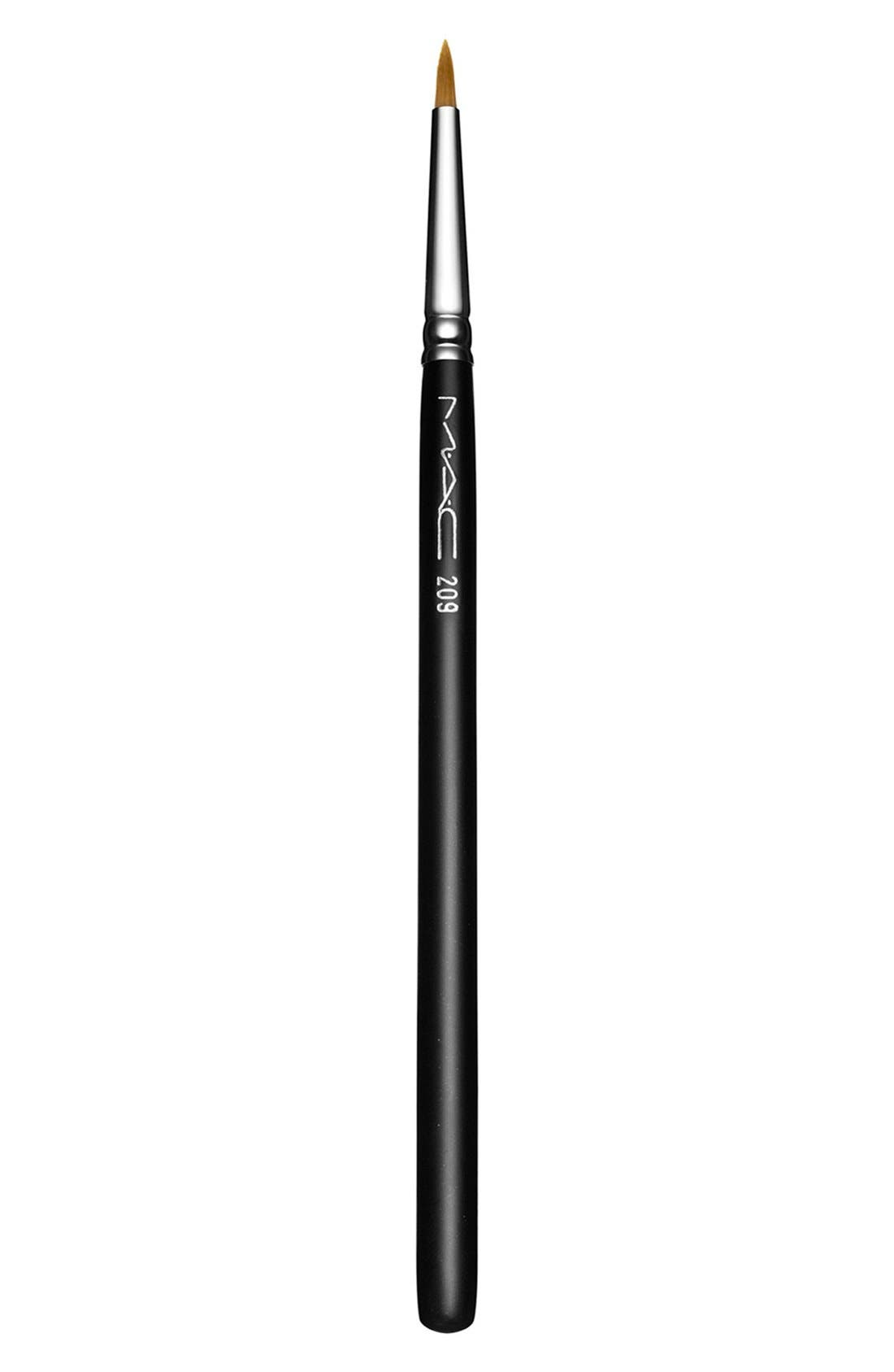 MAC COSMETICS, MAC 209 Eyeliner Brush, Main thumbnail 1, color, 000