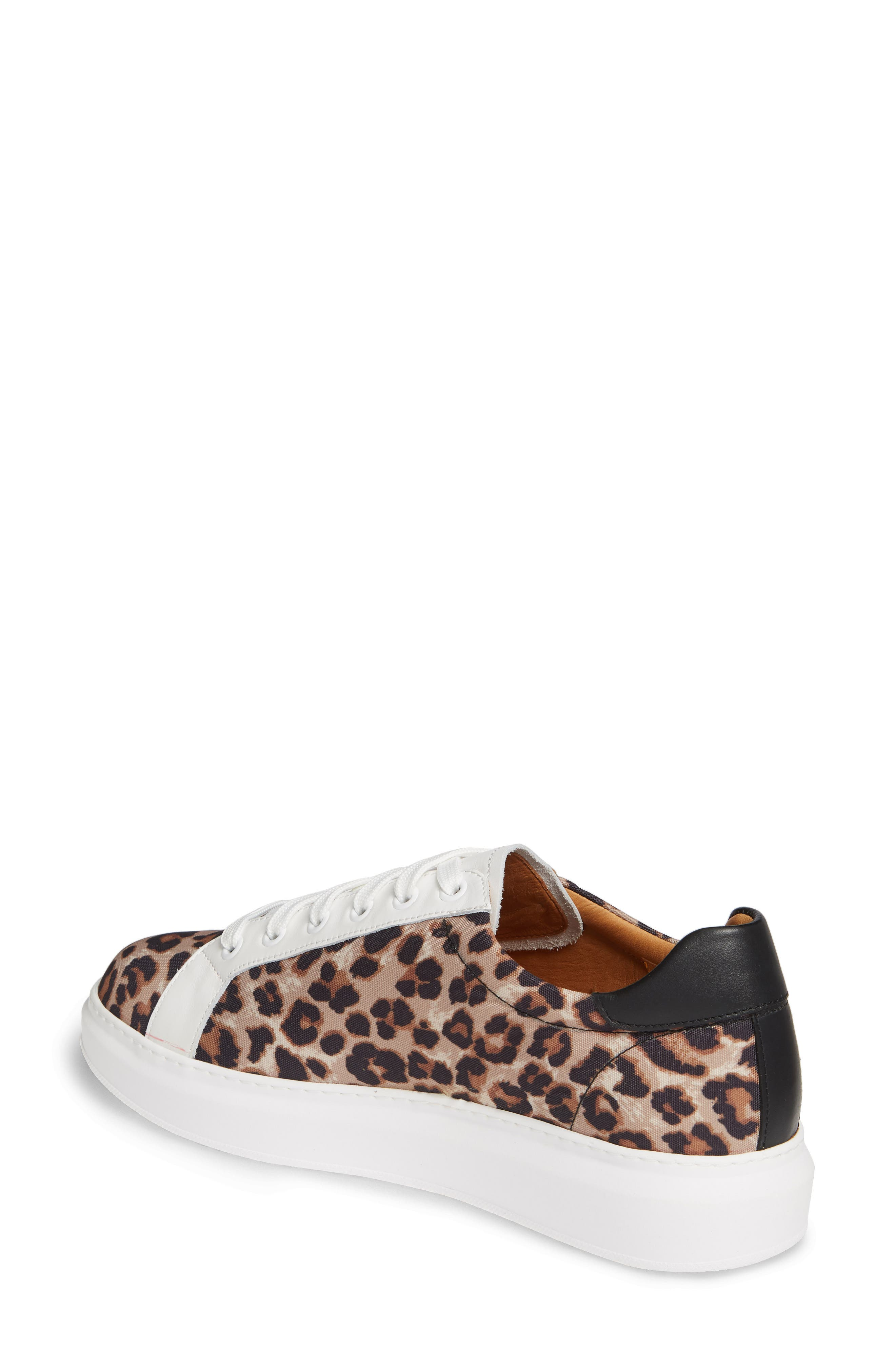 VERONICA BEARD, Daelyn Leopard Print Sneaker, Alternate thumbnail 2, color, LEOPARD