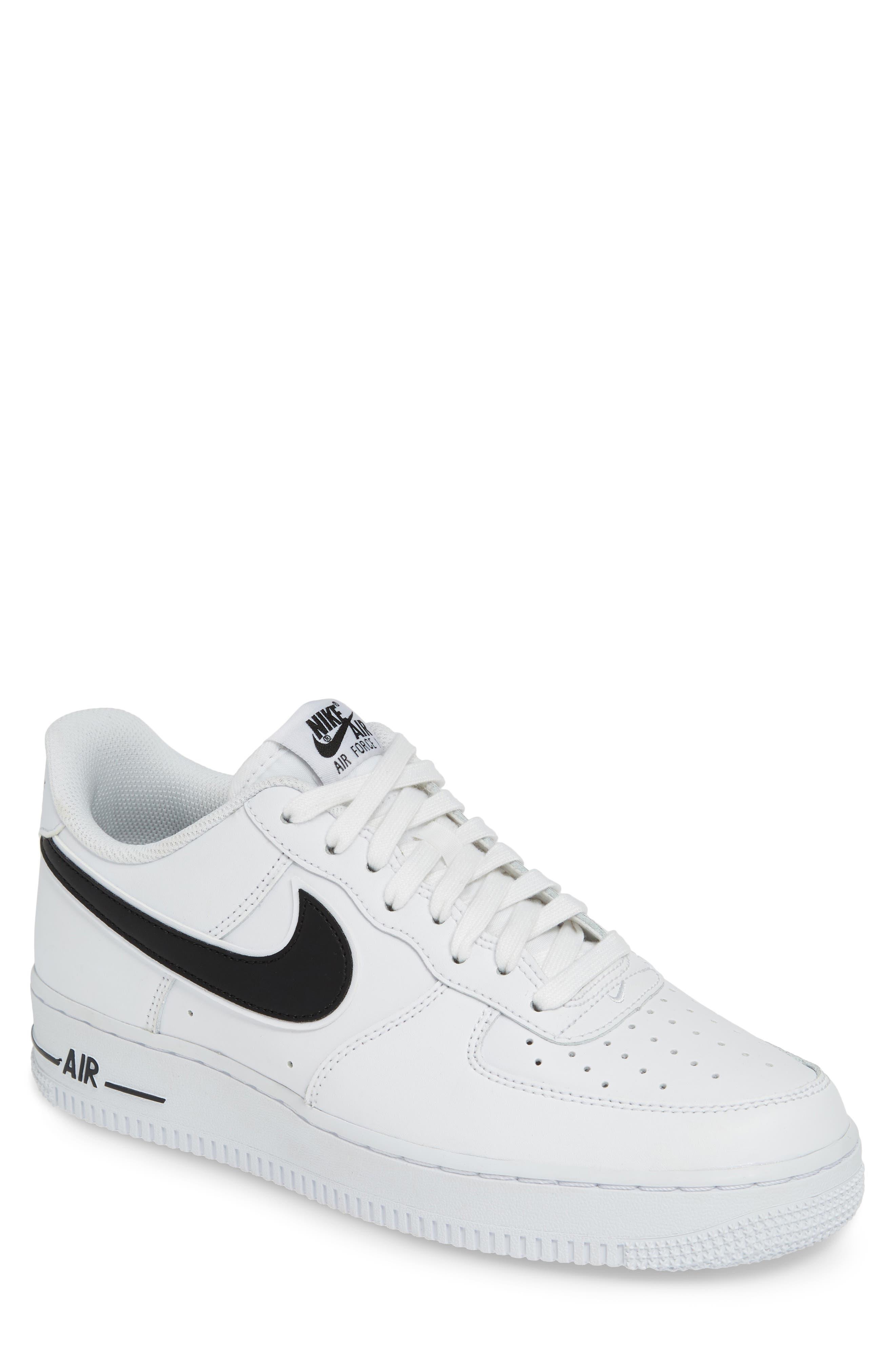 NIKE, Air Force 1 '07 3 Sneaker, Main thumbnail 1, color, WHITE/ BLACK