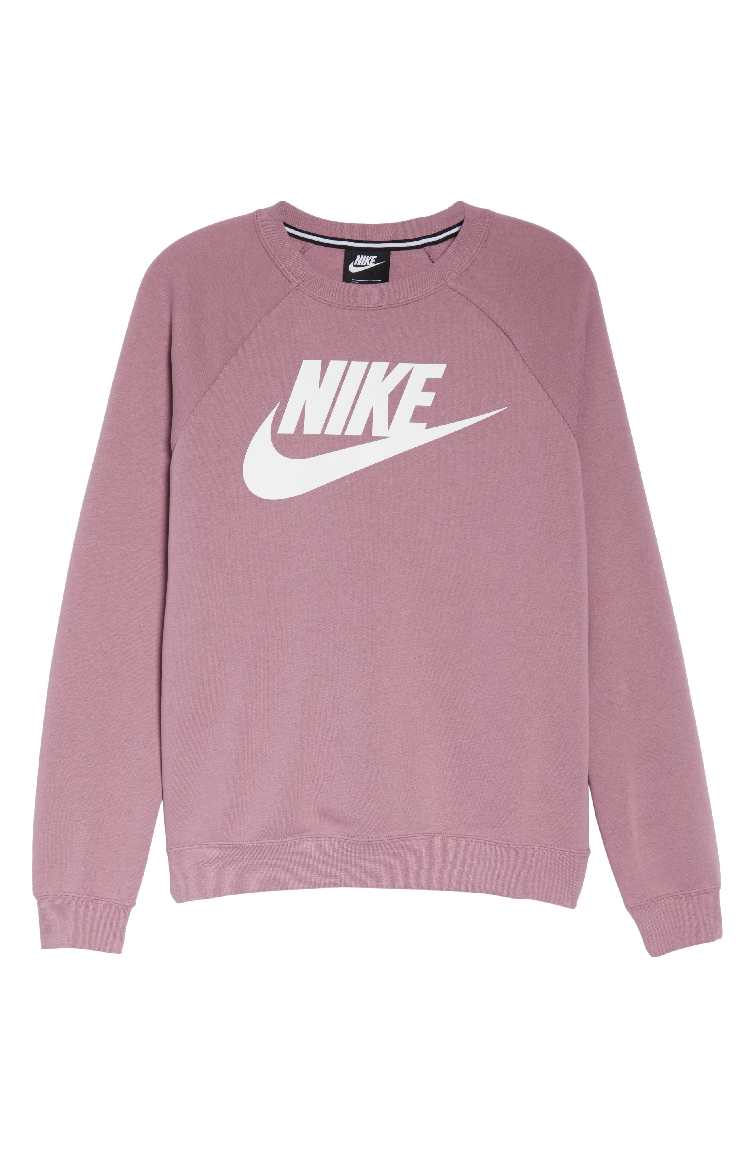 NIKE, NSW Rally Sweatshirt, Alternate thumbnail 7, color, PLUM DUST/ WHITE
