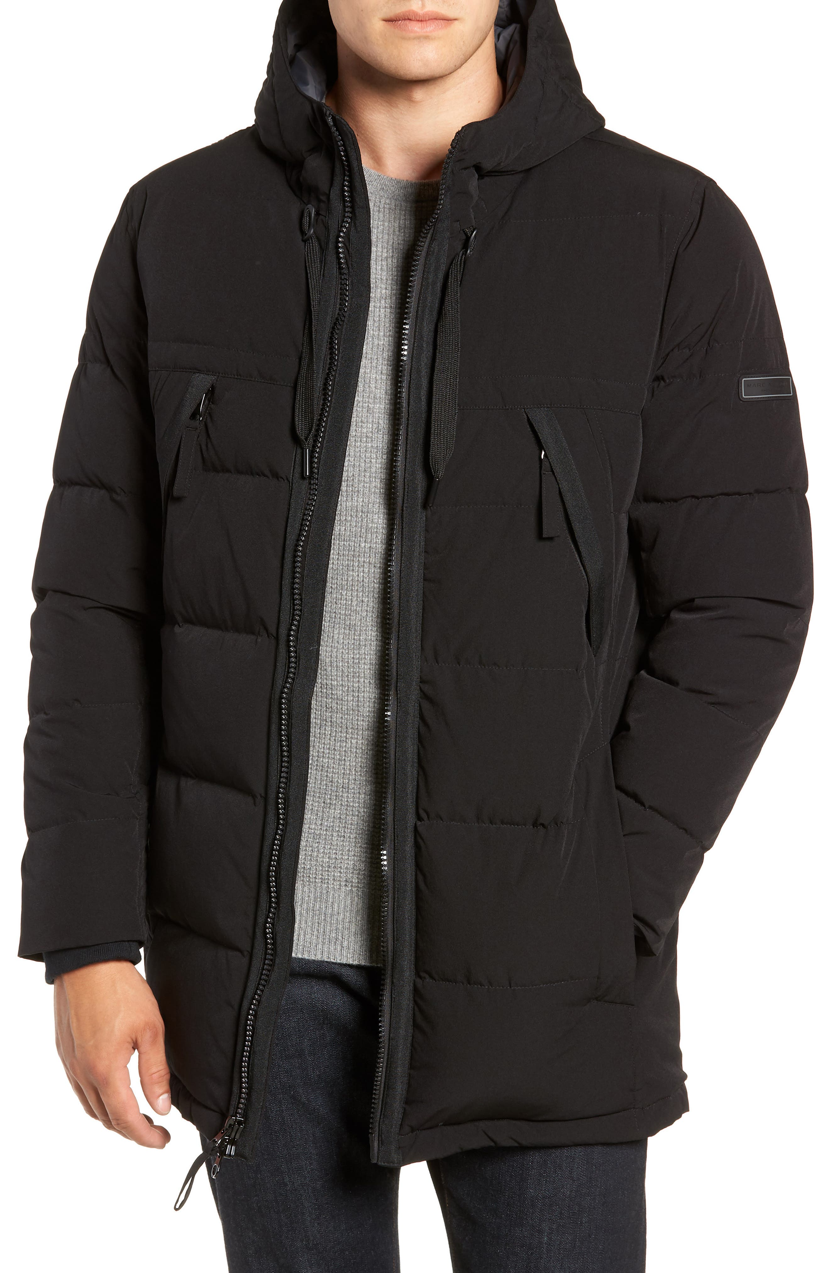 MARC NEW YORK, Holden Down & Feather Parka, Main thumbnail 1, color, BLACK