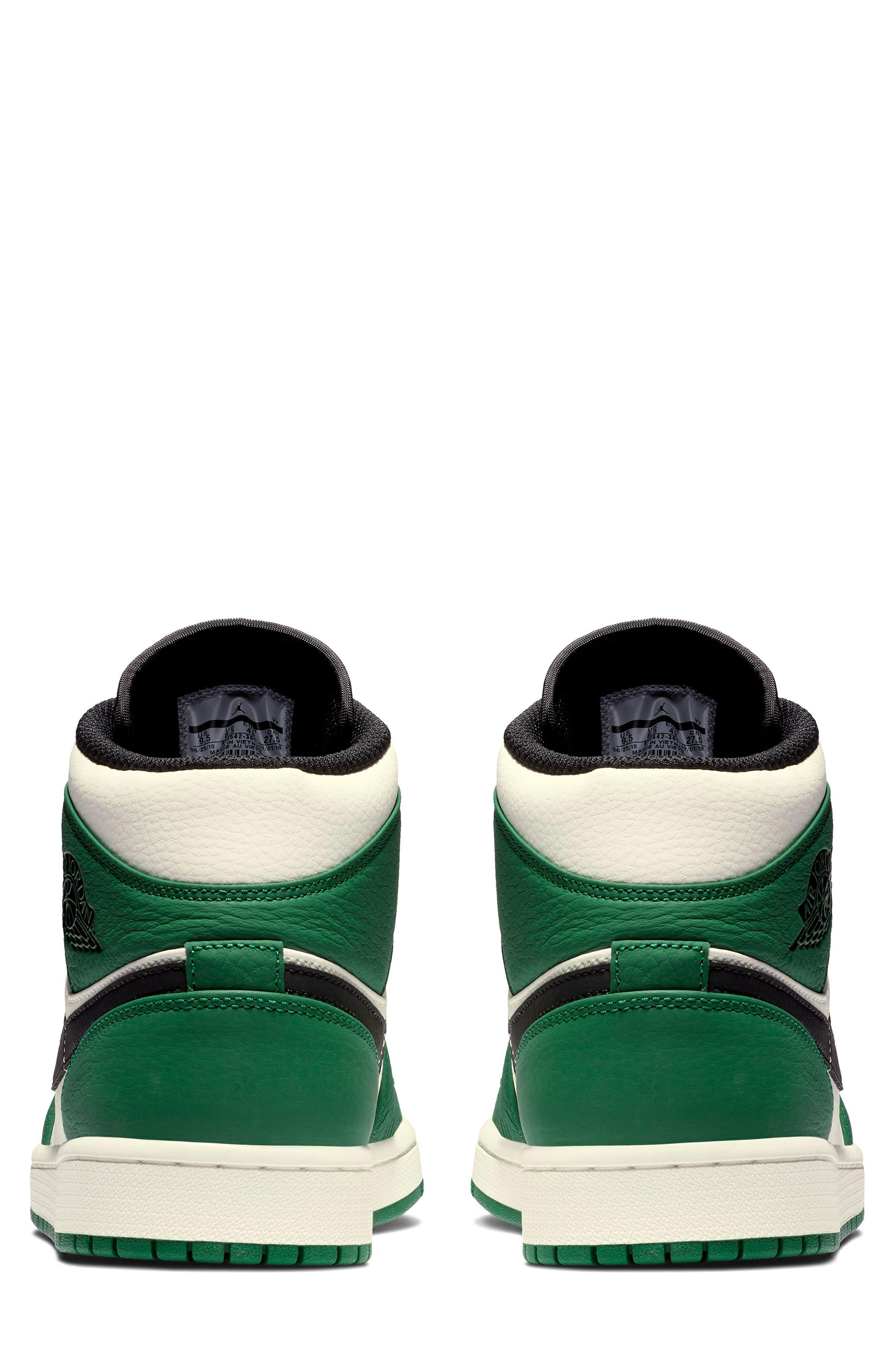 NIKE, Air Jordan 1 Mid Winterized Sneaker, Alternate thumbnail 5, color, 301